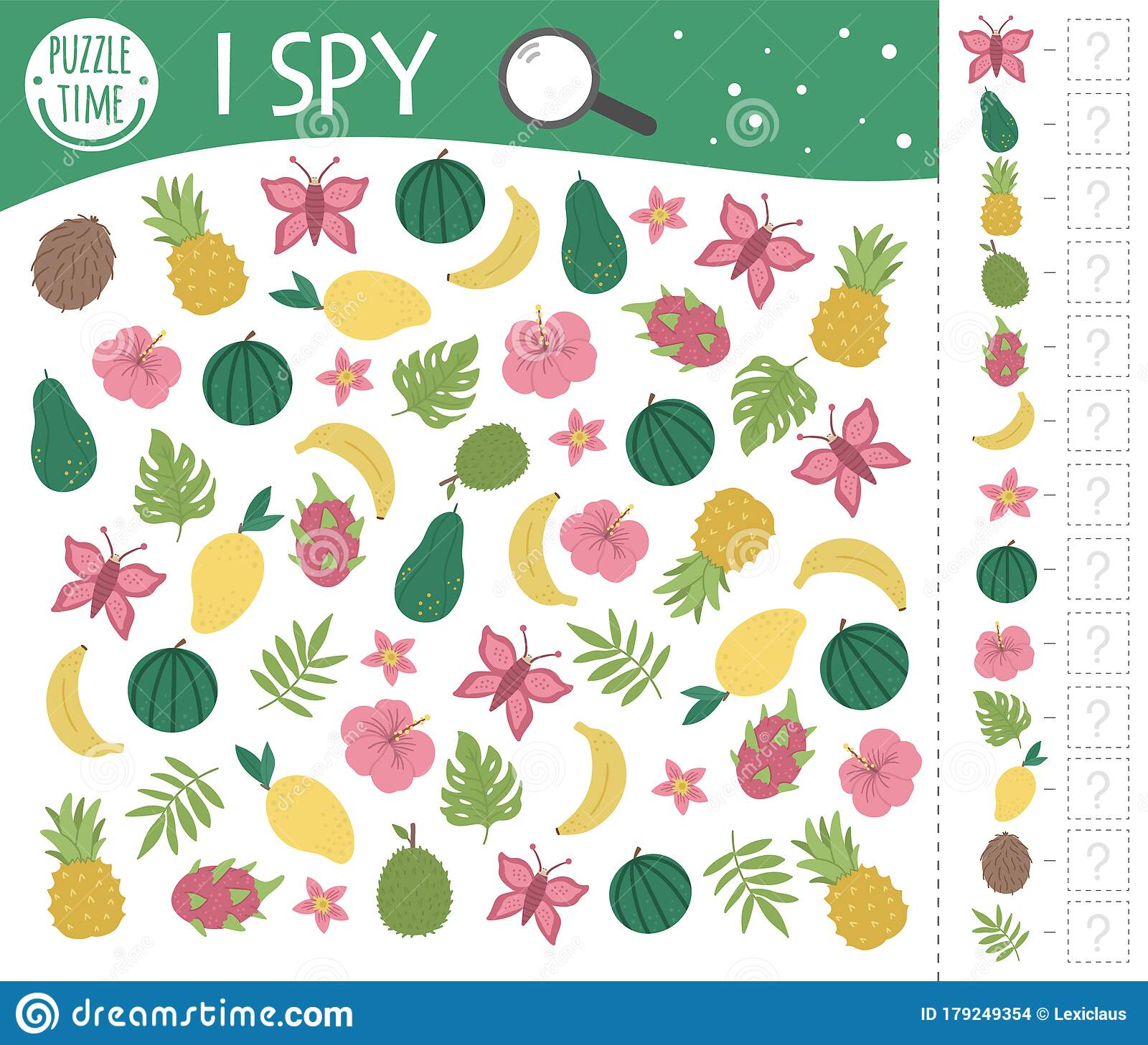 Tropical I Spy Game For Kids Exotic Searching And