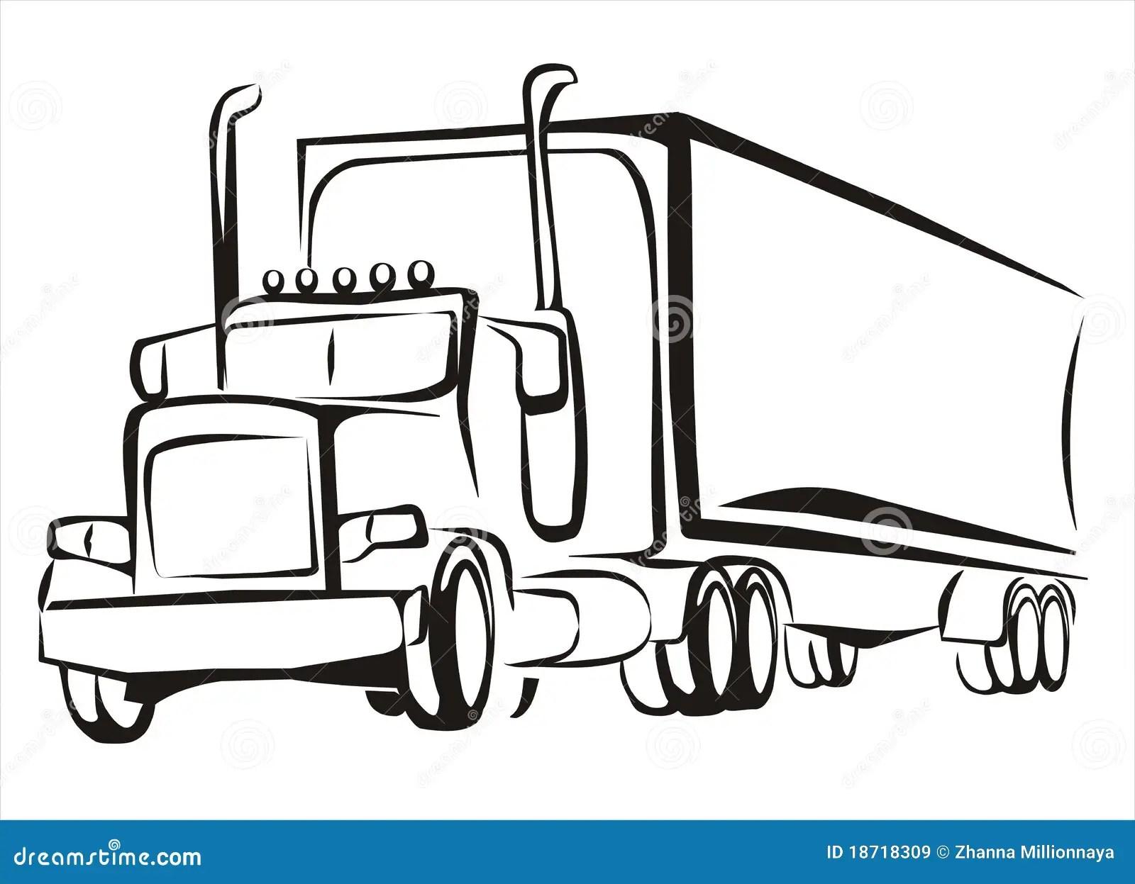 Truck Lorry Iosolated Illustration Stock Vector