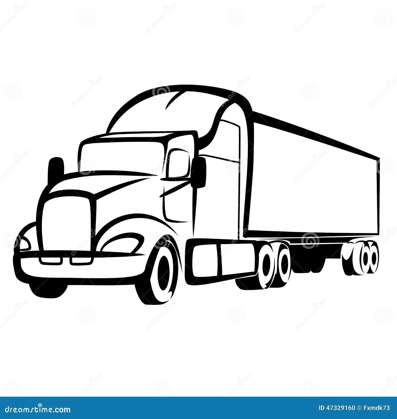 Truck Symbol Stock Vector Illustration Of Traffic