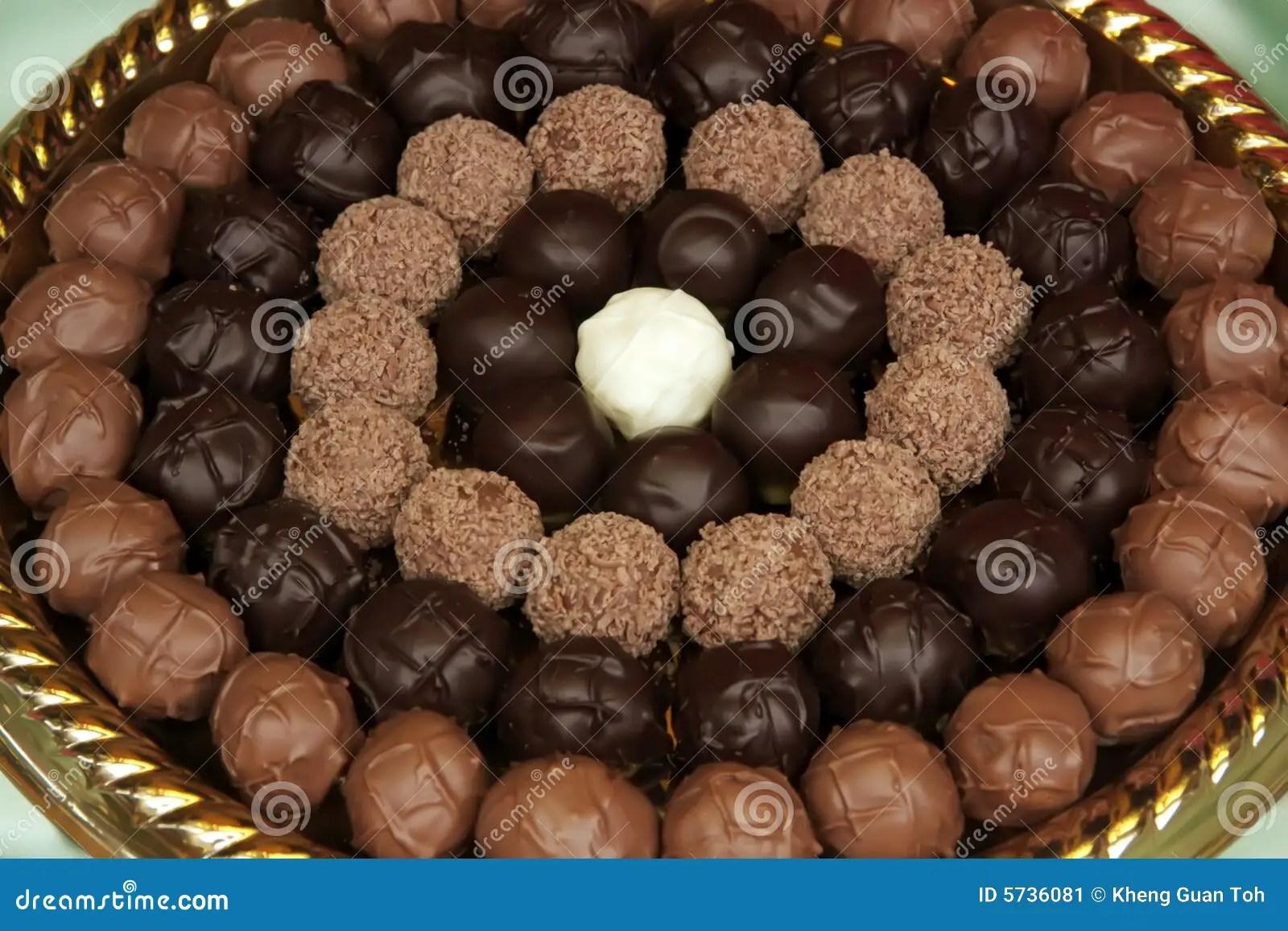 Trufas De Chocolate Imagen De Archivo Imagen De Leche