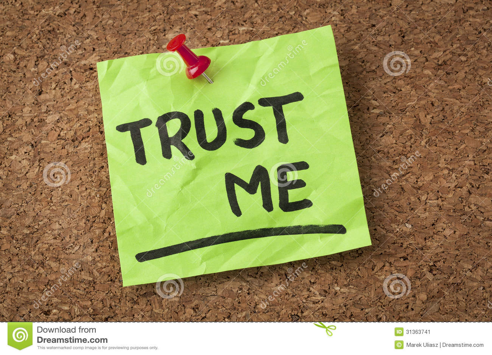 Trust Me Stock Image Image 31363741