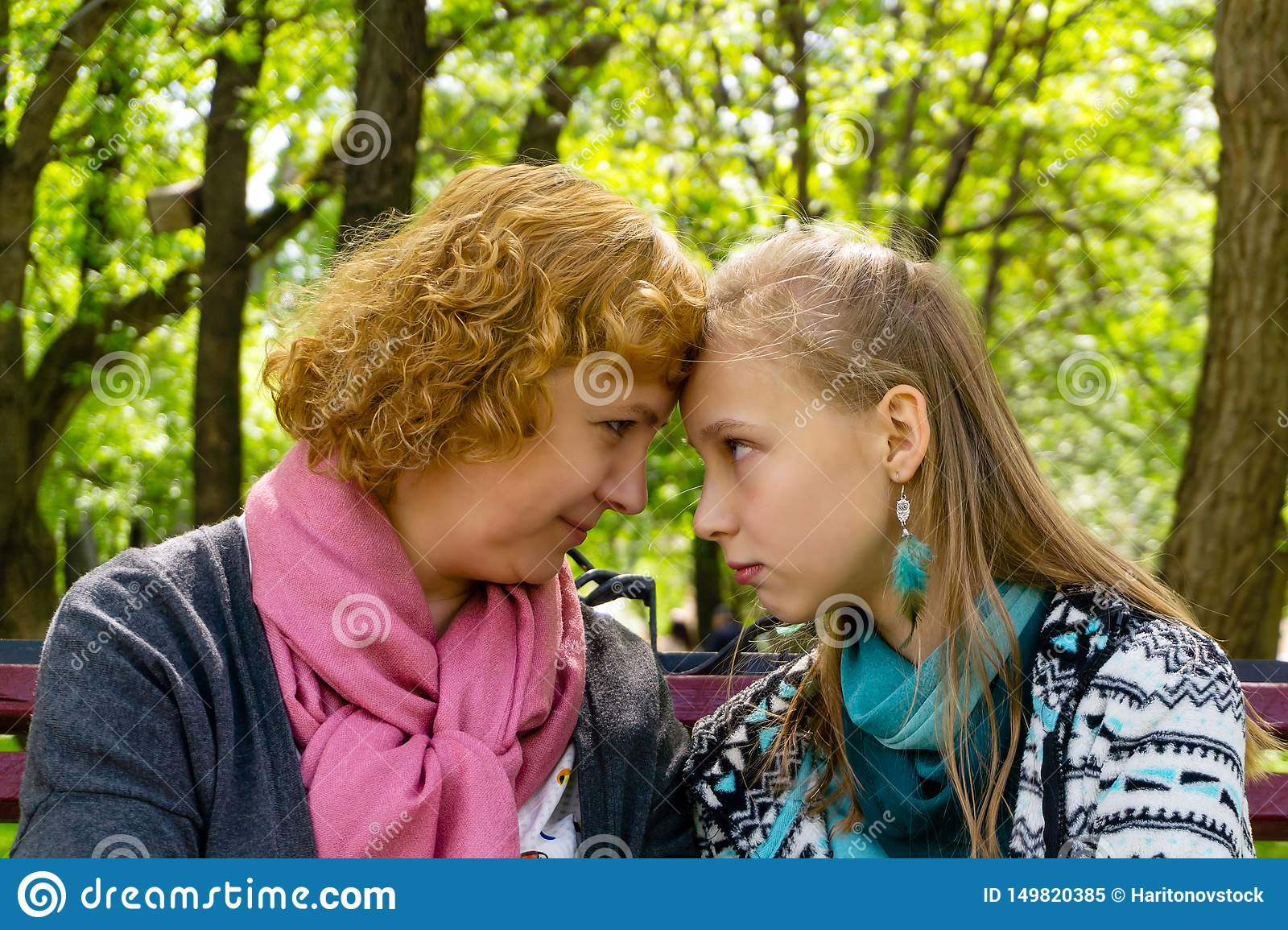 Trusting Communication Between Mother And Daughter Stock