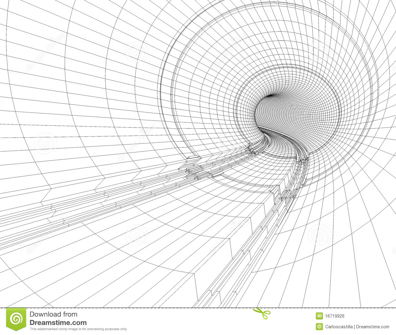 Tunnel Blueprint Royalty Free Stock Image