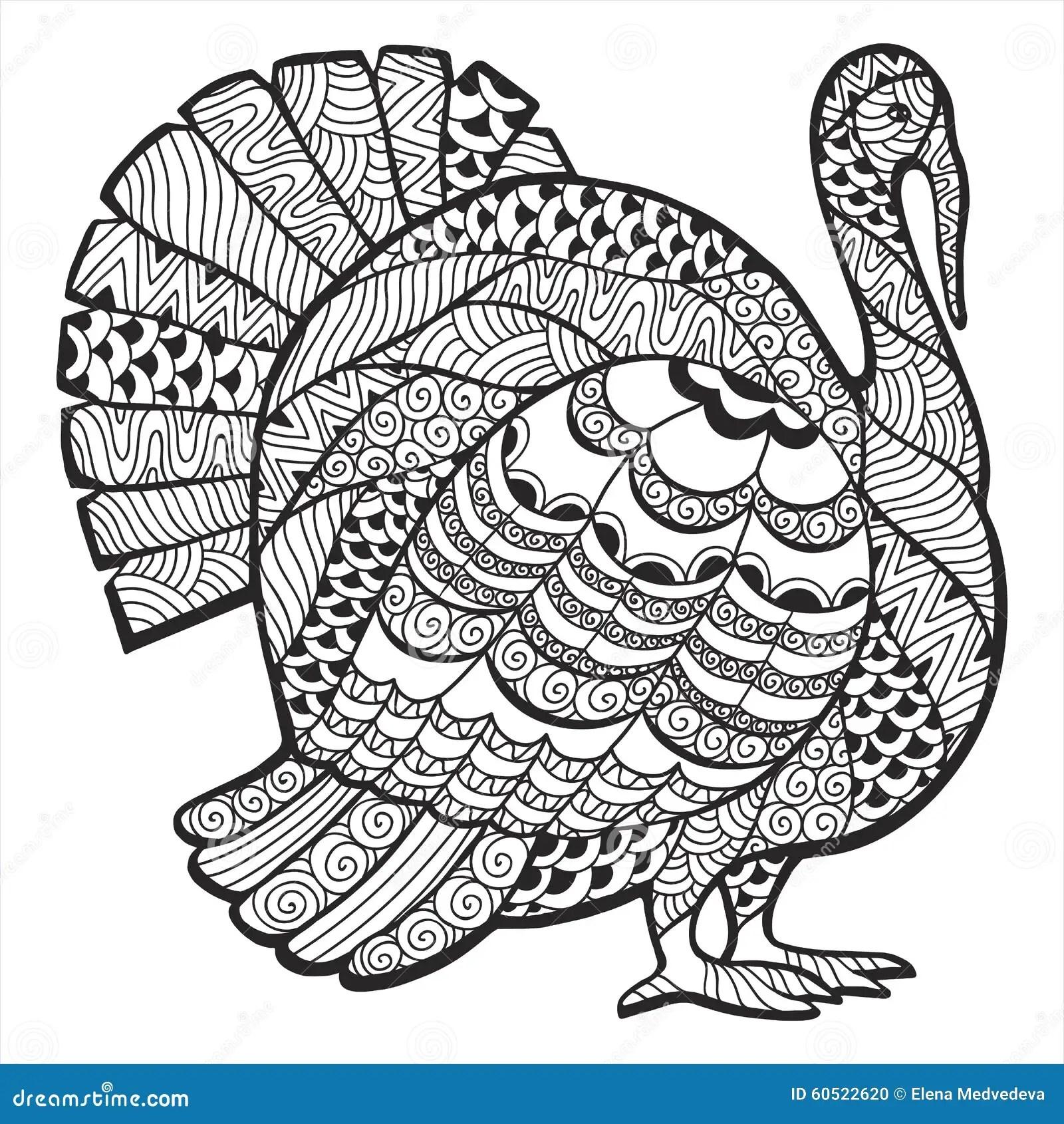 Turkey Zentangle Stock Vector Image Of Invitation Animal