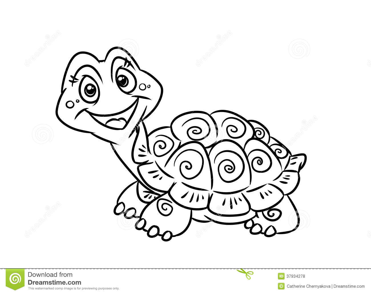 Turtle Fun Coloring Pages Stock Illustration Illustration Of Animal