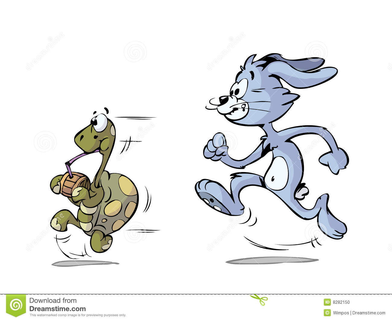 Turtle And Hare Running Stock Vector Image Of Cartoon