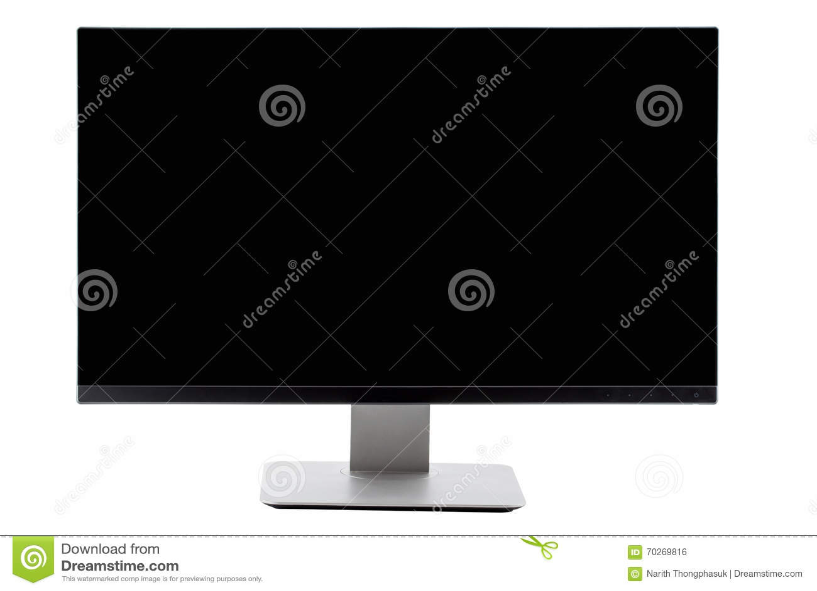 Tv Flat Screen Lcd Plasma Tv Mock Up Black Hd Monitor Stock