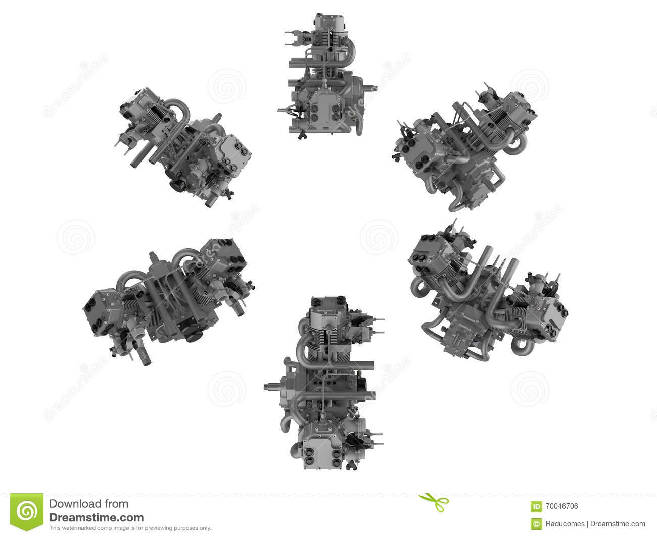 Twin Engine Illustrations Stock Illustration Illustration