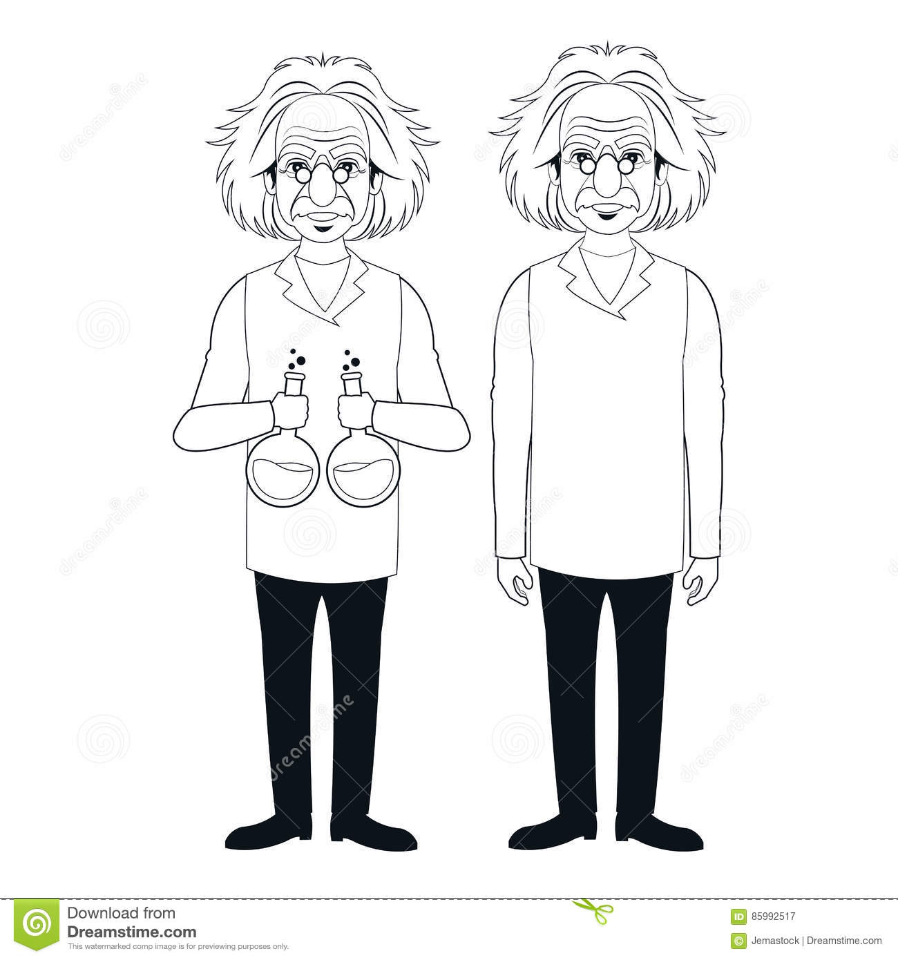 Pharmacology Experiment Stand Cartoon Vector
