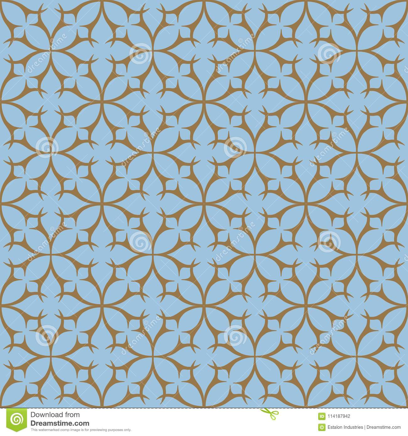 https www dreamstime com two colour geometric tile thorn circle seamless repeat pattern background could be used brown light blue image114187942