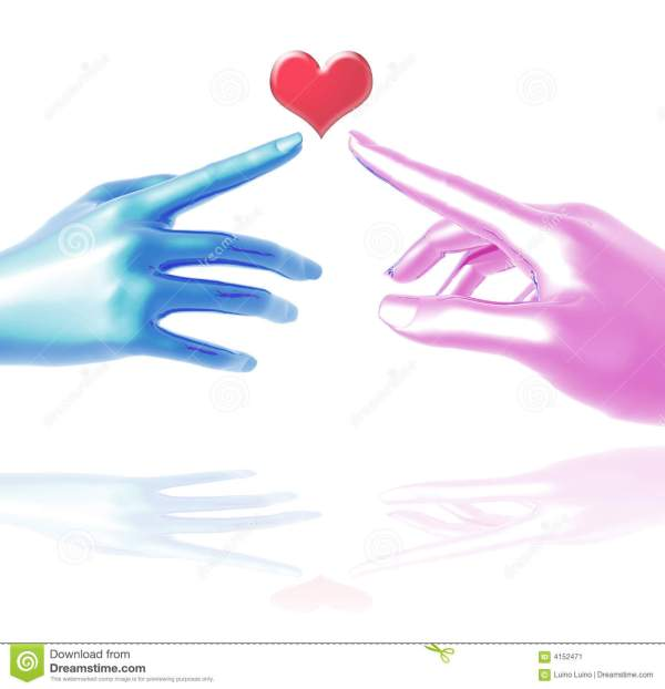 Two Hands In Love Touch Stock Image - Image: 4152471