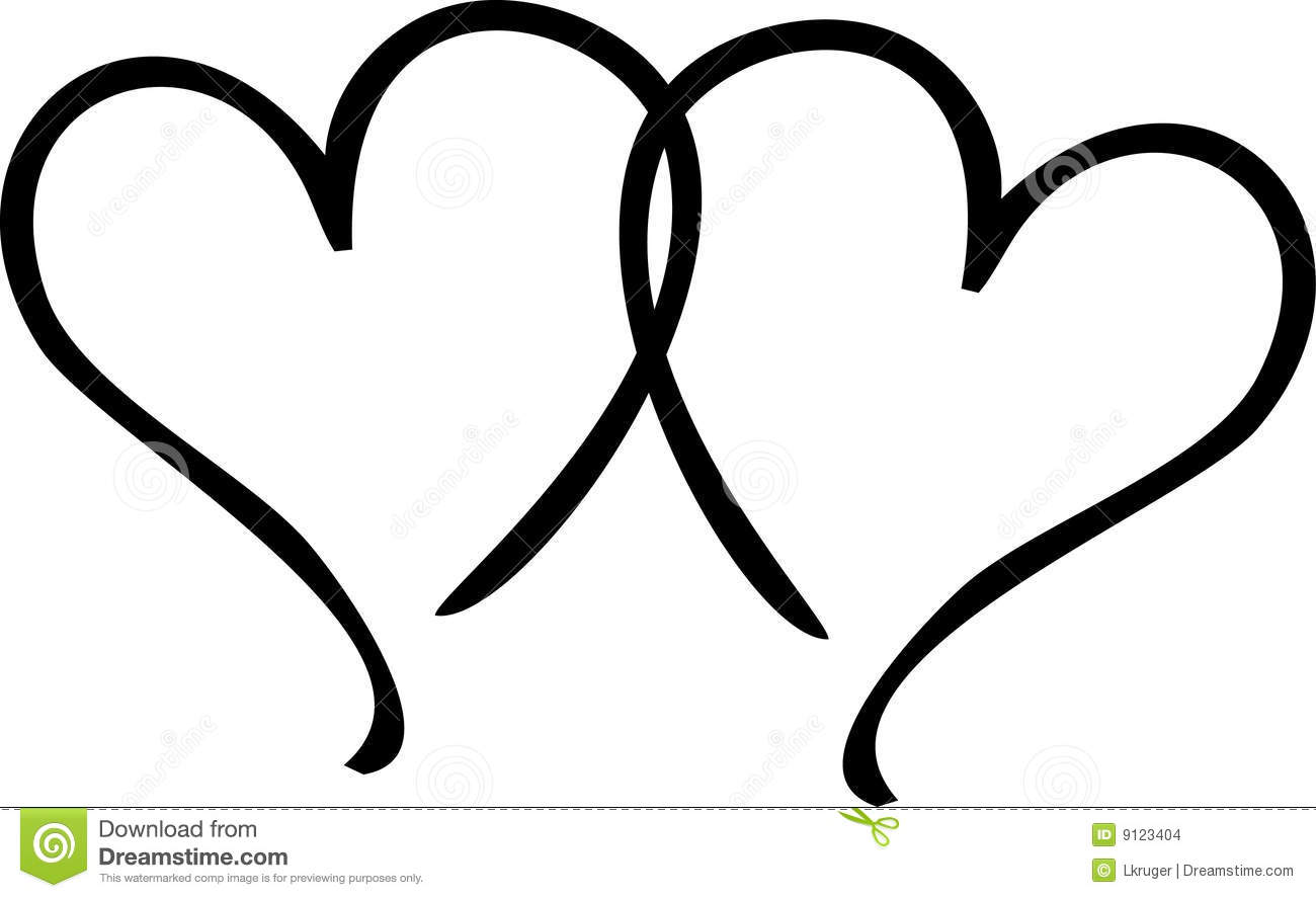 Two Hearts Stock Illustration Illustration Of Abstract