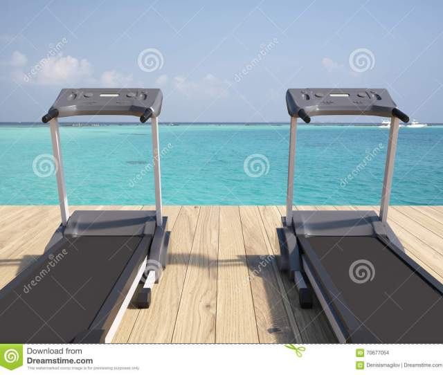 Two Treadmills Near The Sea