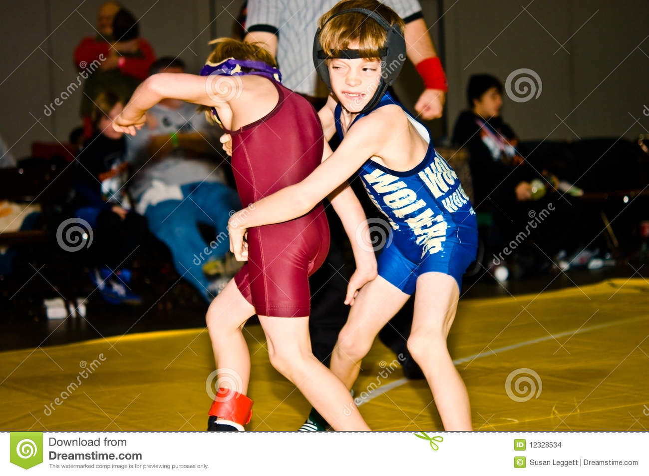 Two Young Boys Wrestling Editorial Stock Image Image Of