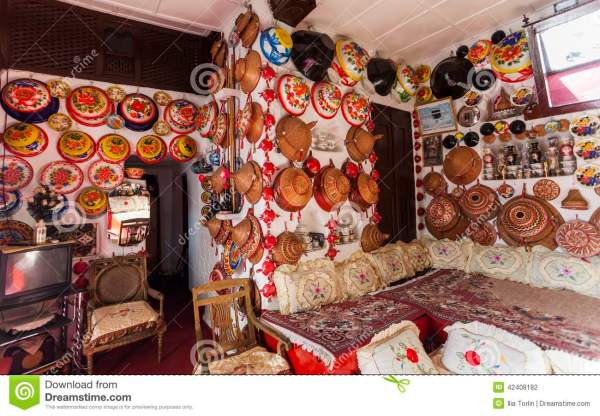 Typical Interior Of Traditional House Harar Ethiopia