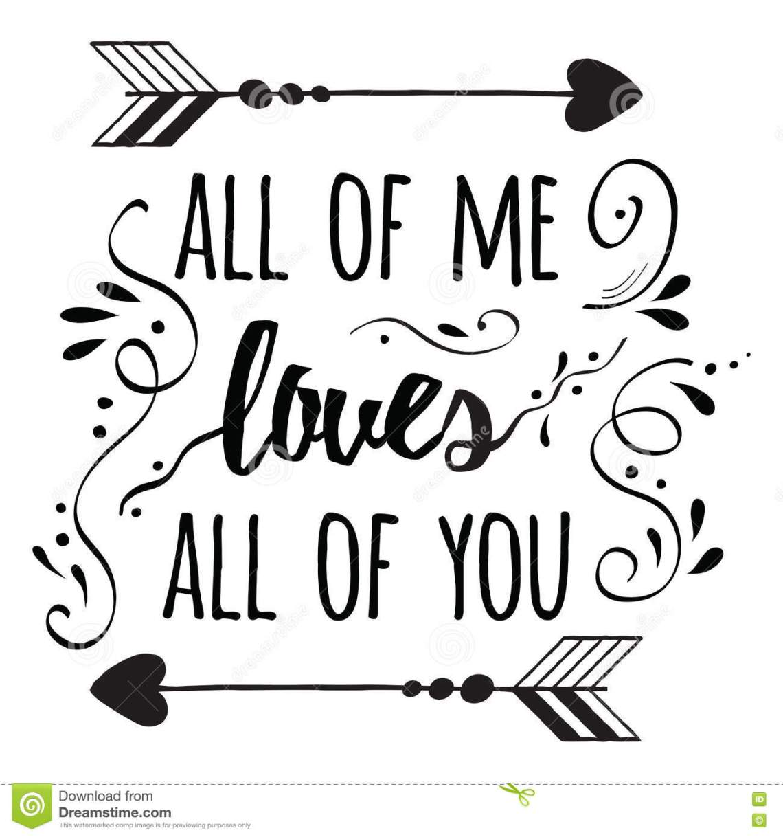 Download Typography Romantic Poster About Love. Quote. Stock Vector ...