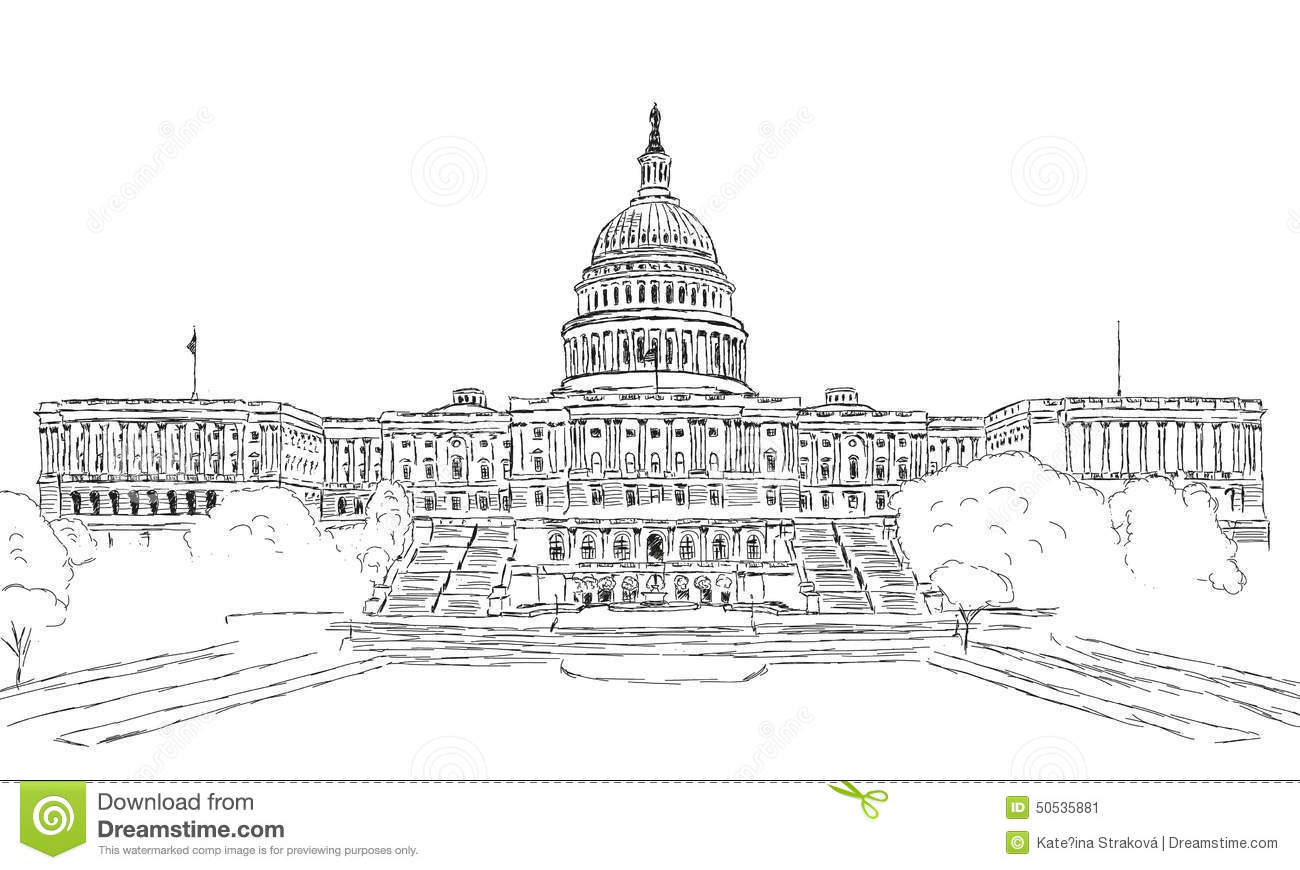 U S Capitol Stock Vector Illustration Of Legislature