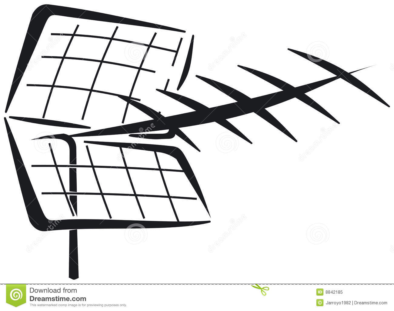 Royalty Free Stock Photo Uhf Yagi Antenna Image