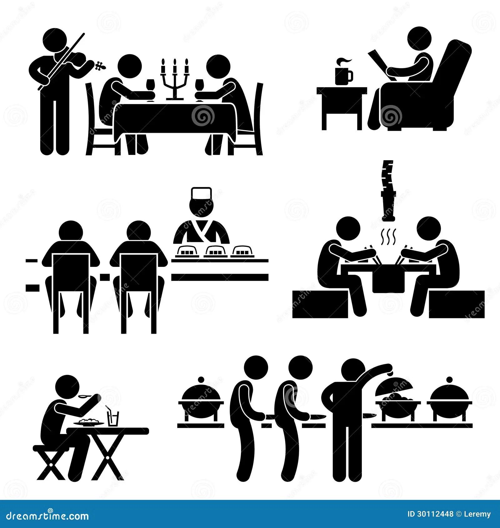 Pittogramma Della Bevanda Dell Alimento Del Caffe Del