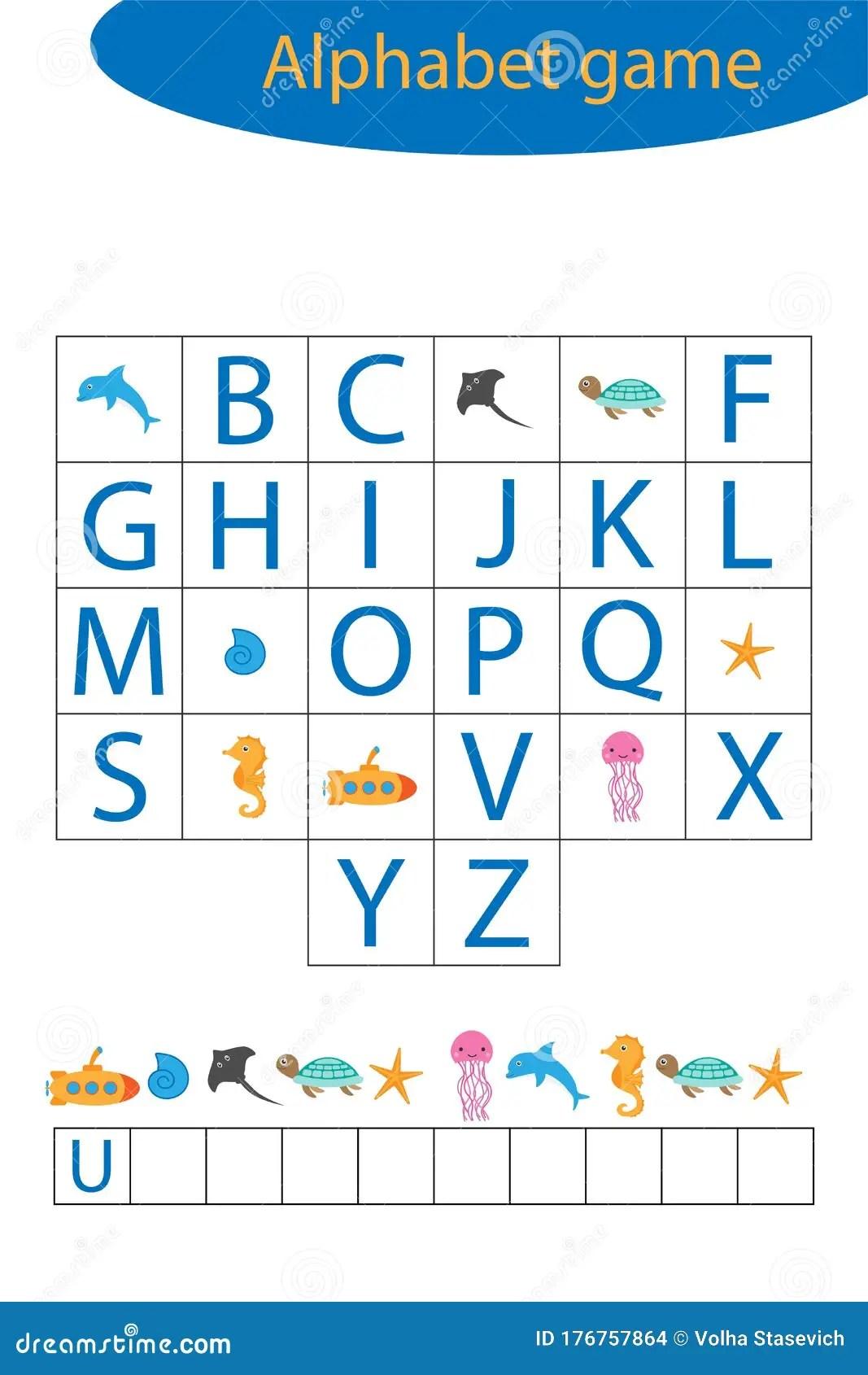 Underwater Alphabet Game For Children Make A Word