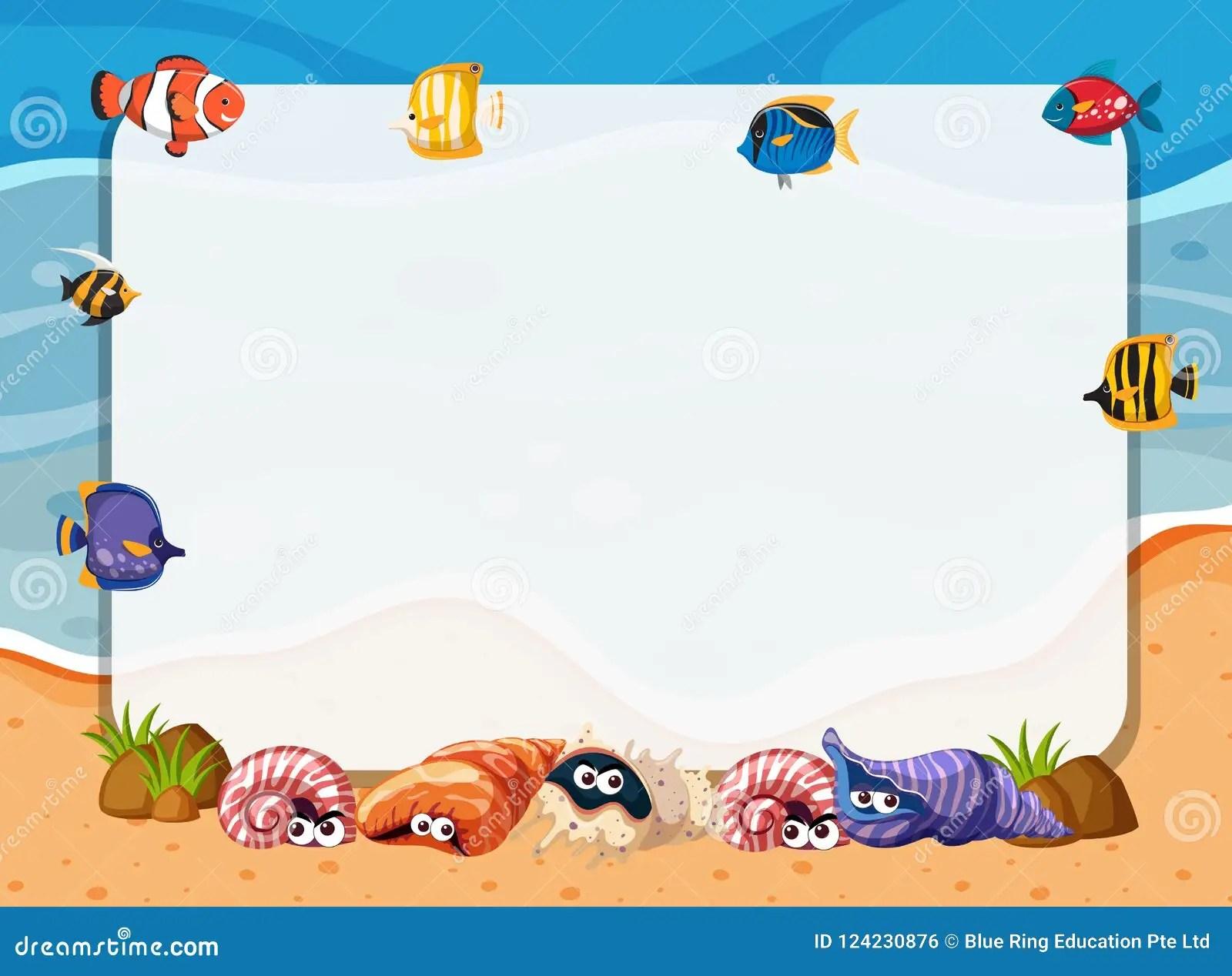 Sea Creatures Frame Stock Illustrations 211 Sea Creatures Frame Stock Illustrations Vectors