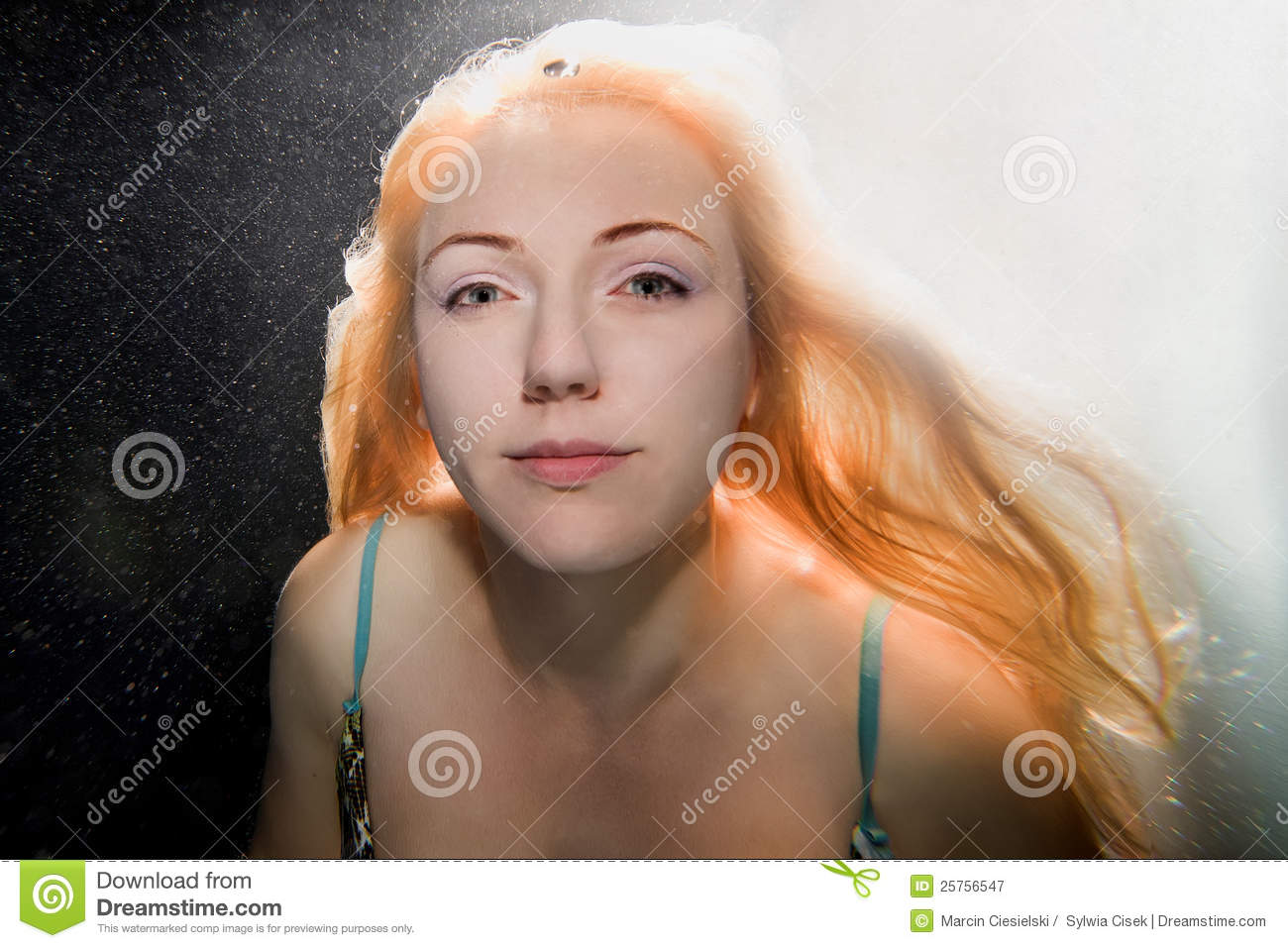 Underwater Woman Royalty Free Stock Photography Image