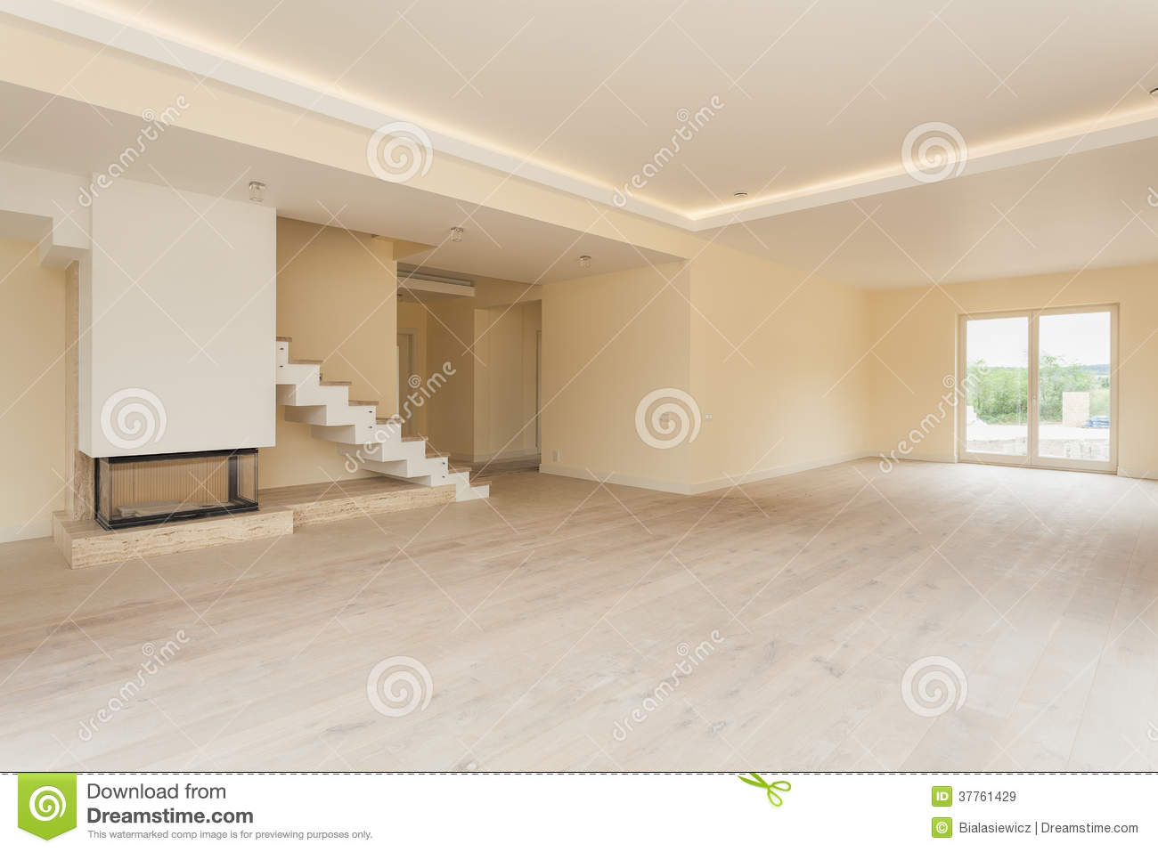 Unfinished Living Room Interior Royalty Free Stock Images
