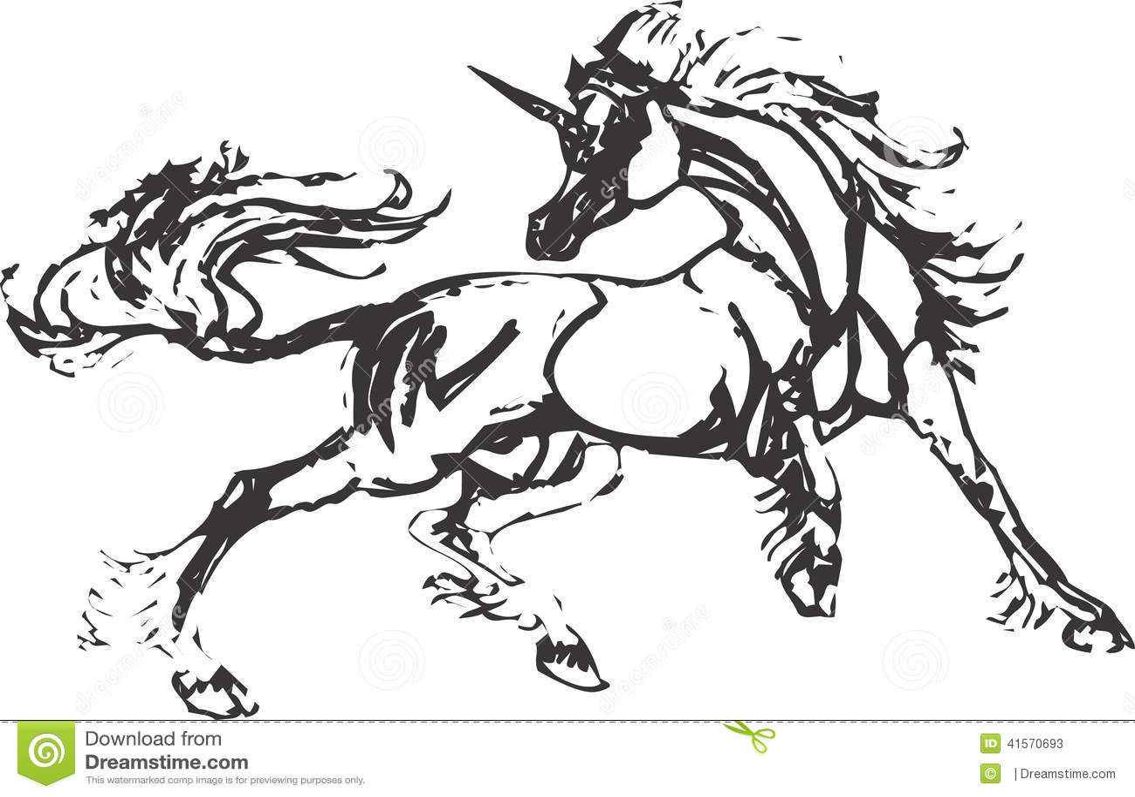 Unicorn Vector Design Clipart Stock Vector