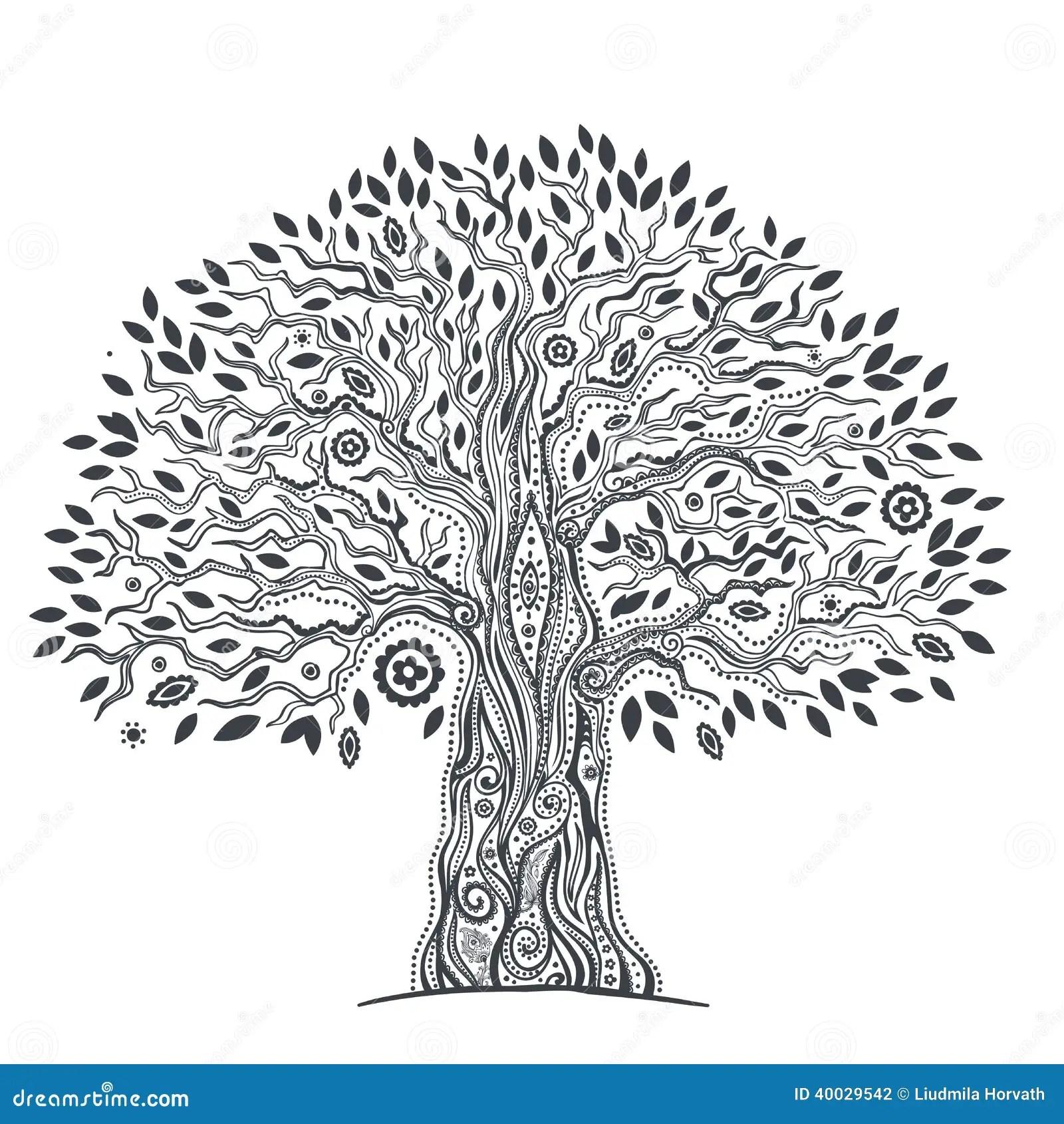 Unique Ethnic Tree Of Life Stock Vector
