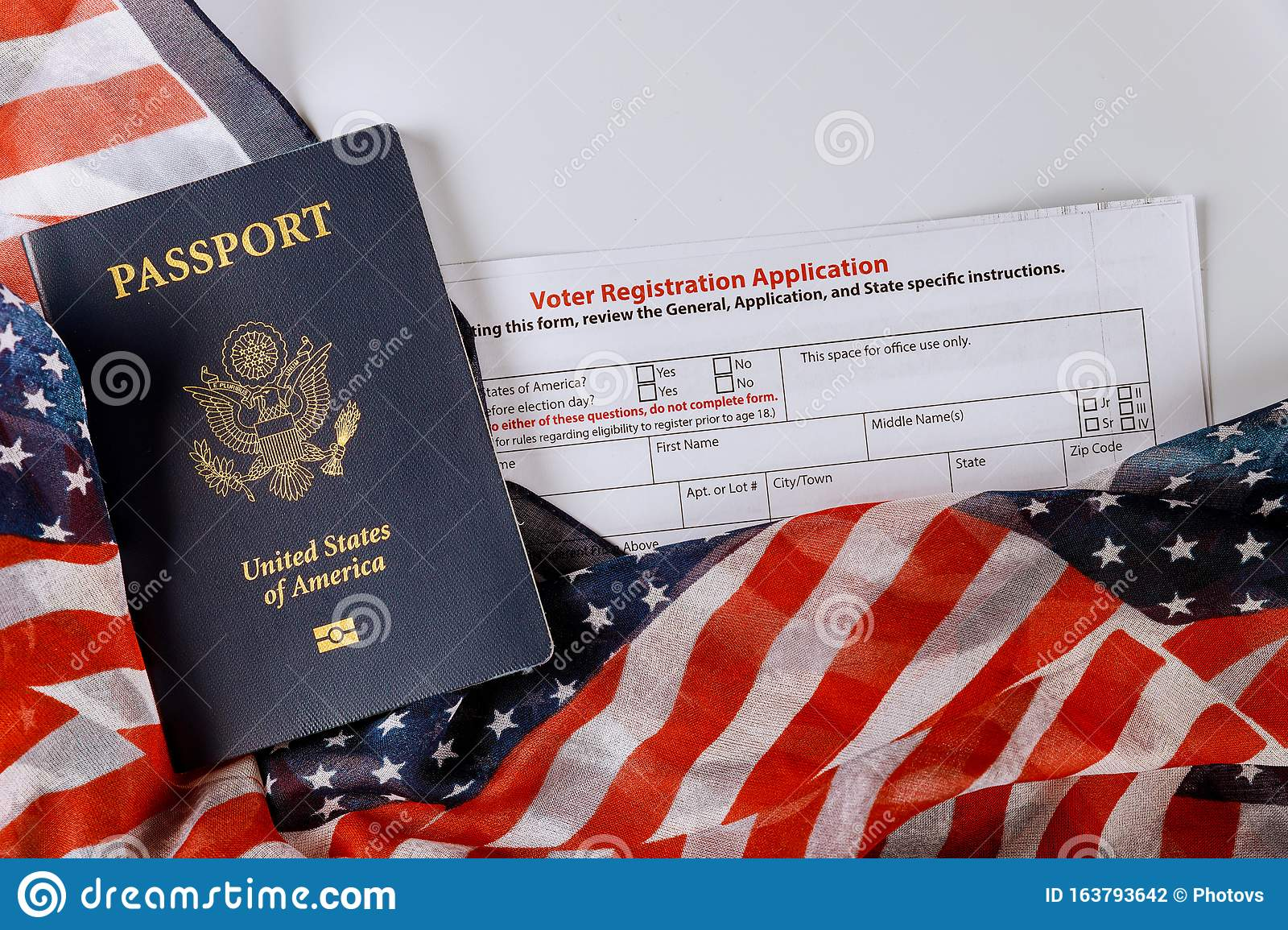 United States Passport Of American Vote Registration Form