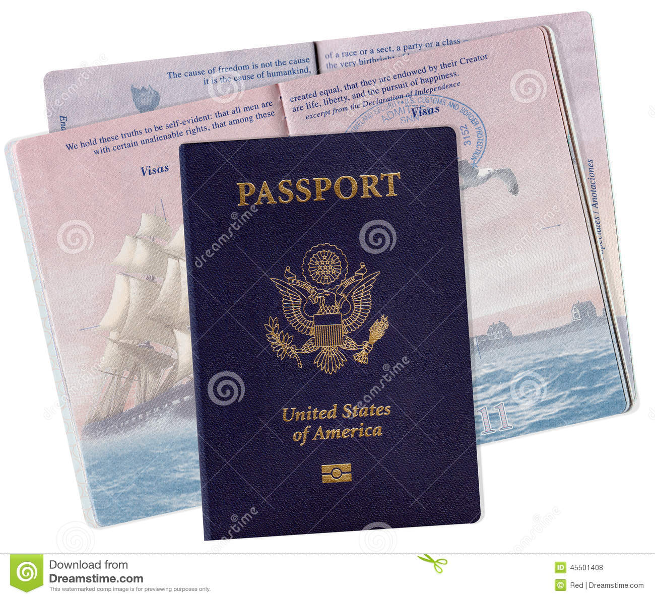 United States Passport With Electronic Chip Stock Photo