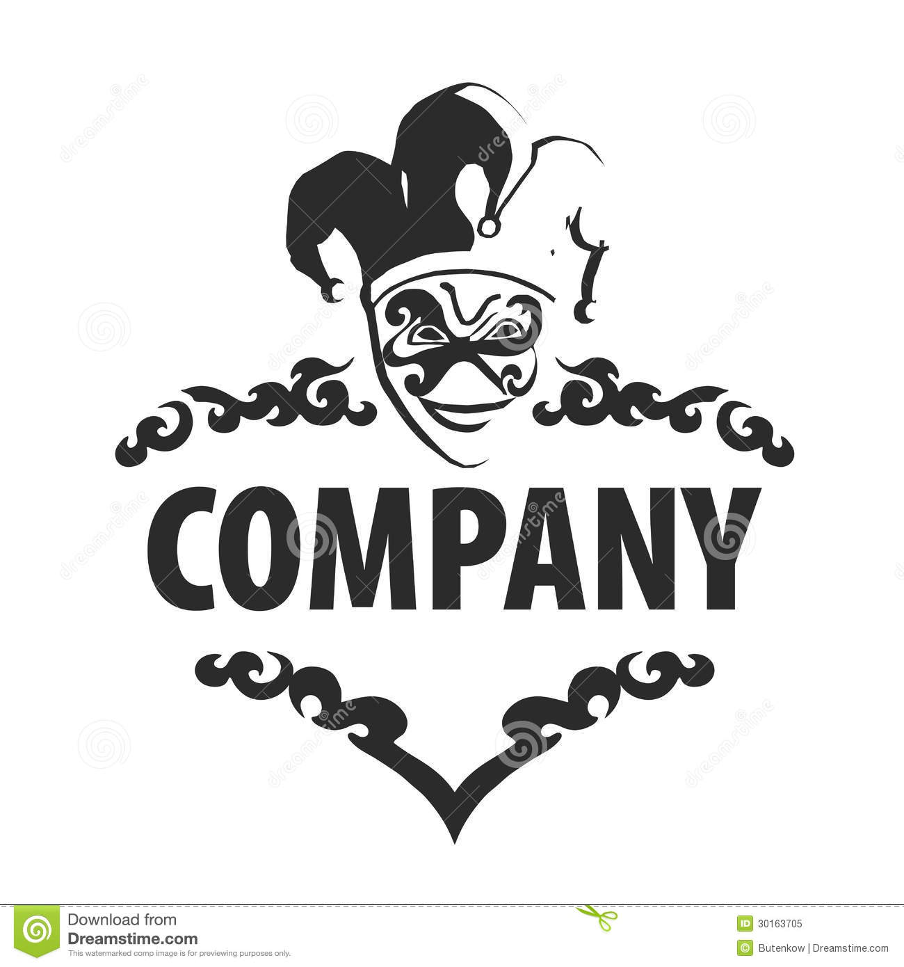 Logo Joker Royalty Free Stock Photo