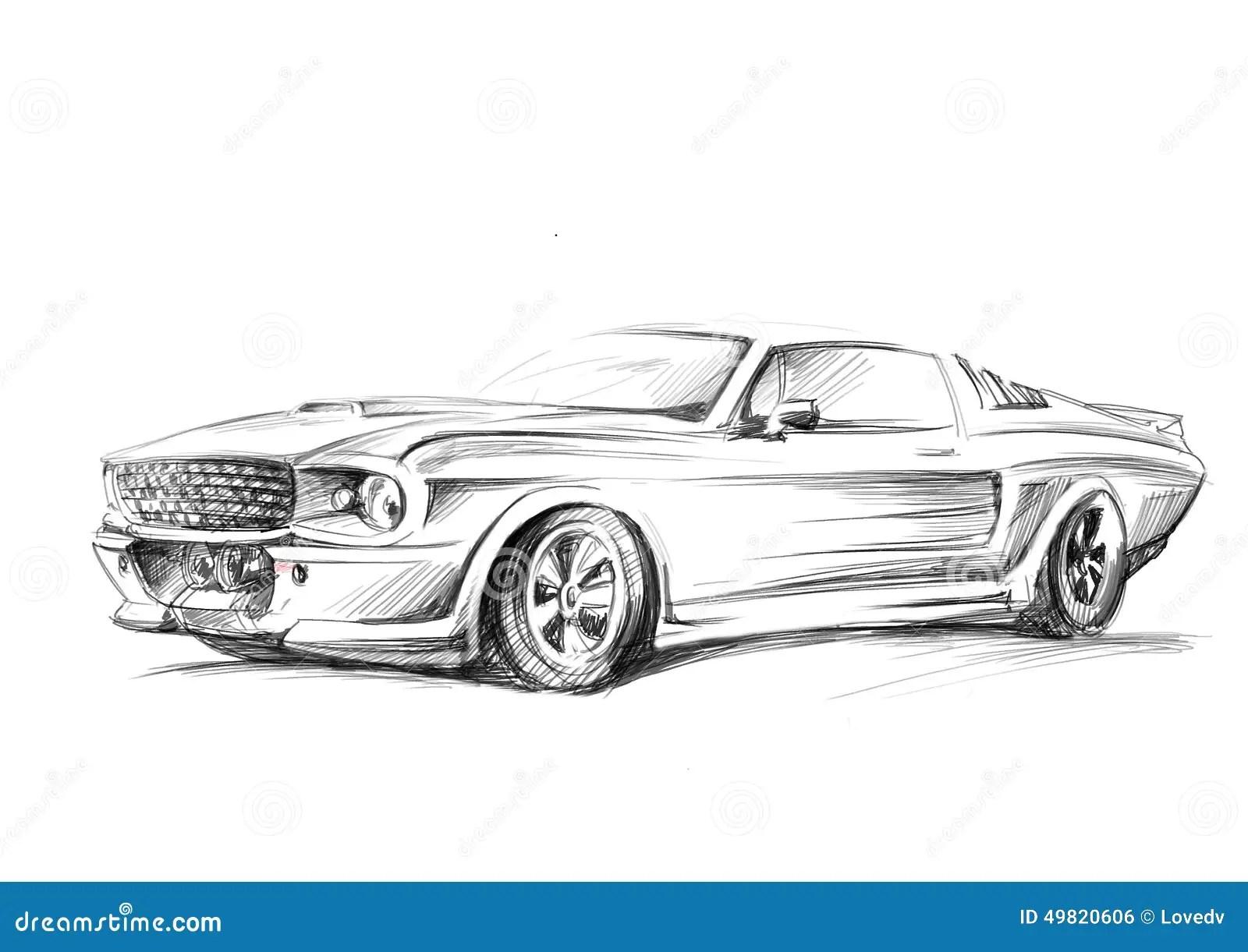 Uno Schizzo Di Un Automobile Illustrazione Di Stock