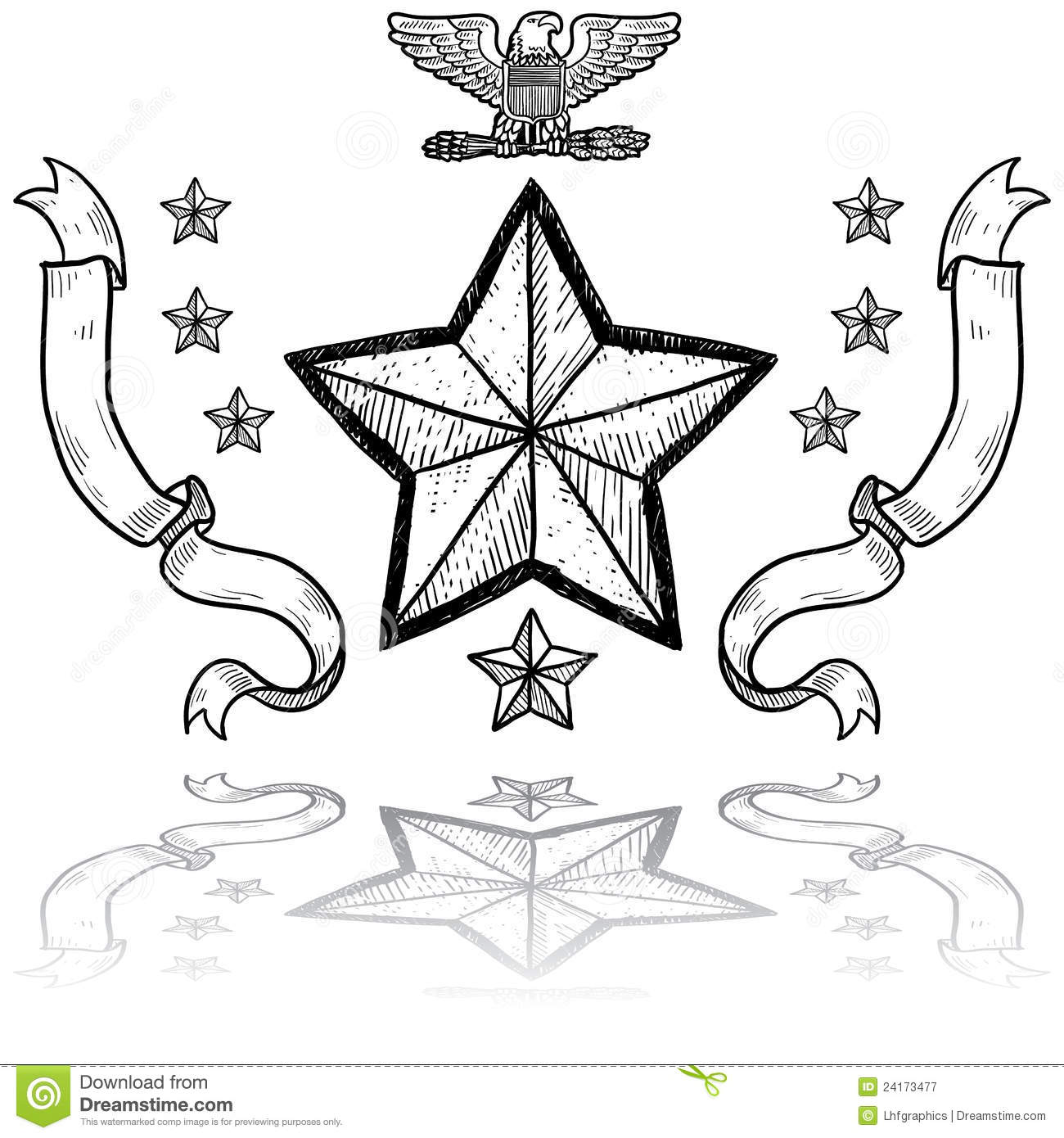Us Army Insignia With Wreath Royalty Free Stock