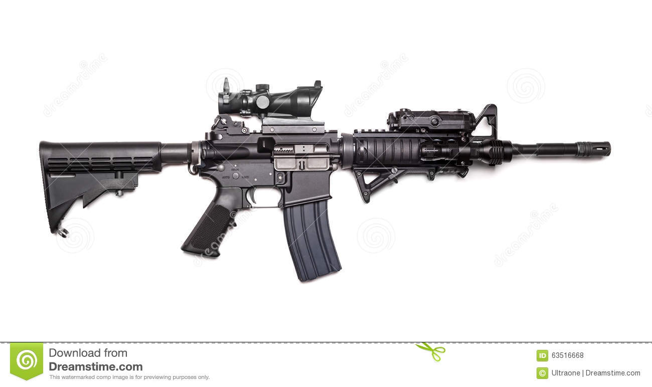 Us Army M4a1 Carbine Stock Photo