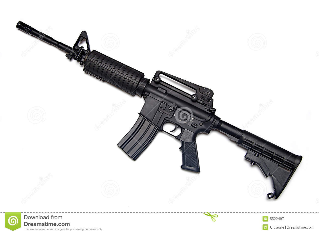 Us Army M4a1 Rifle Royalty Free Stock Photography