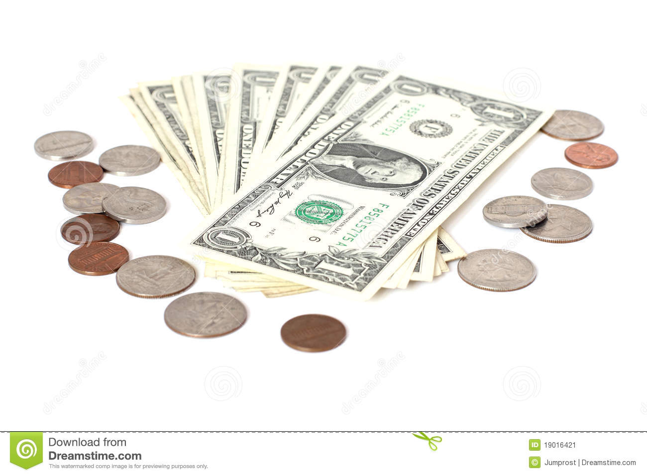 Us Cents And Dollars Stock Image Image Of Numbers