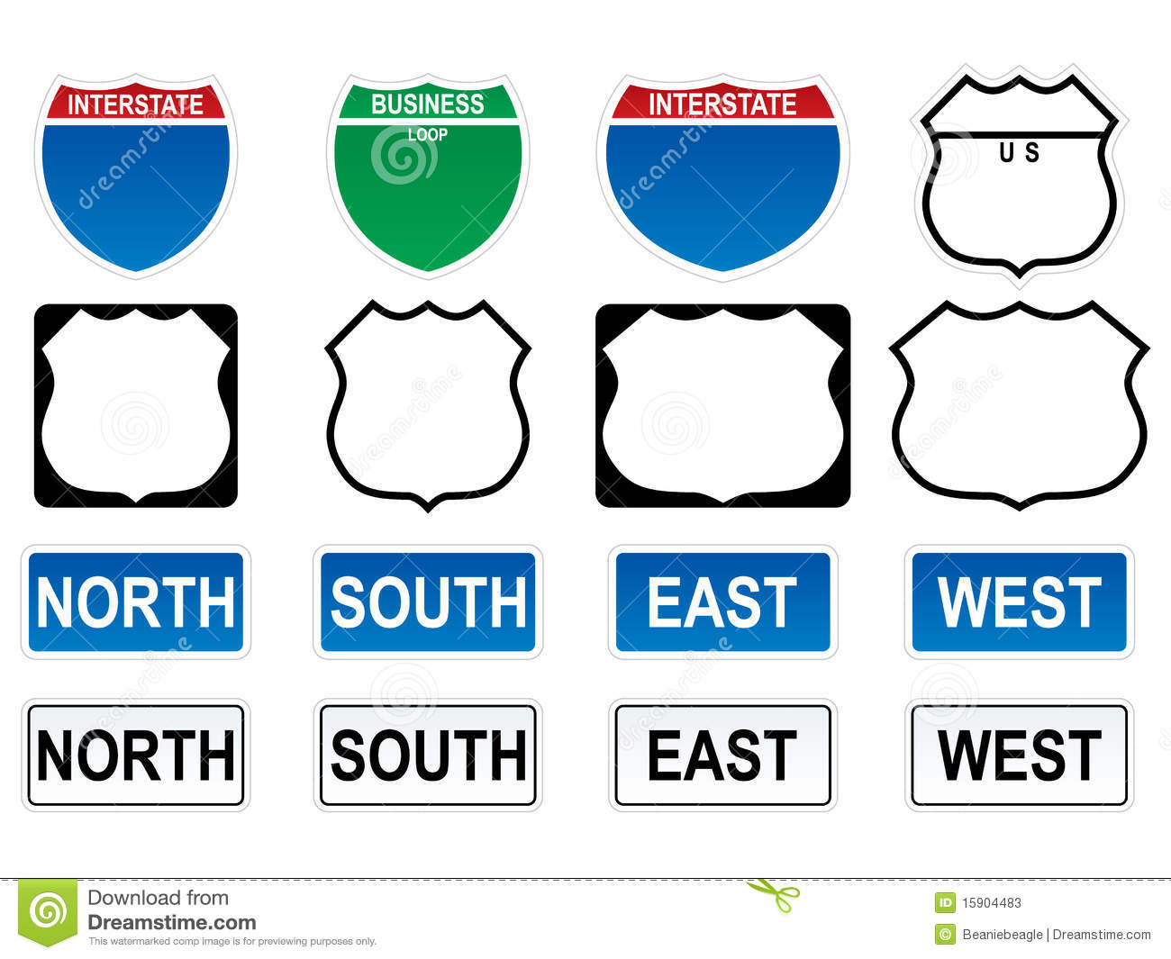 Highway Map Symbols And Meanings