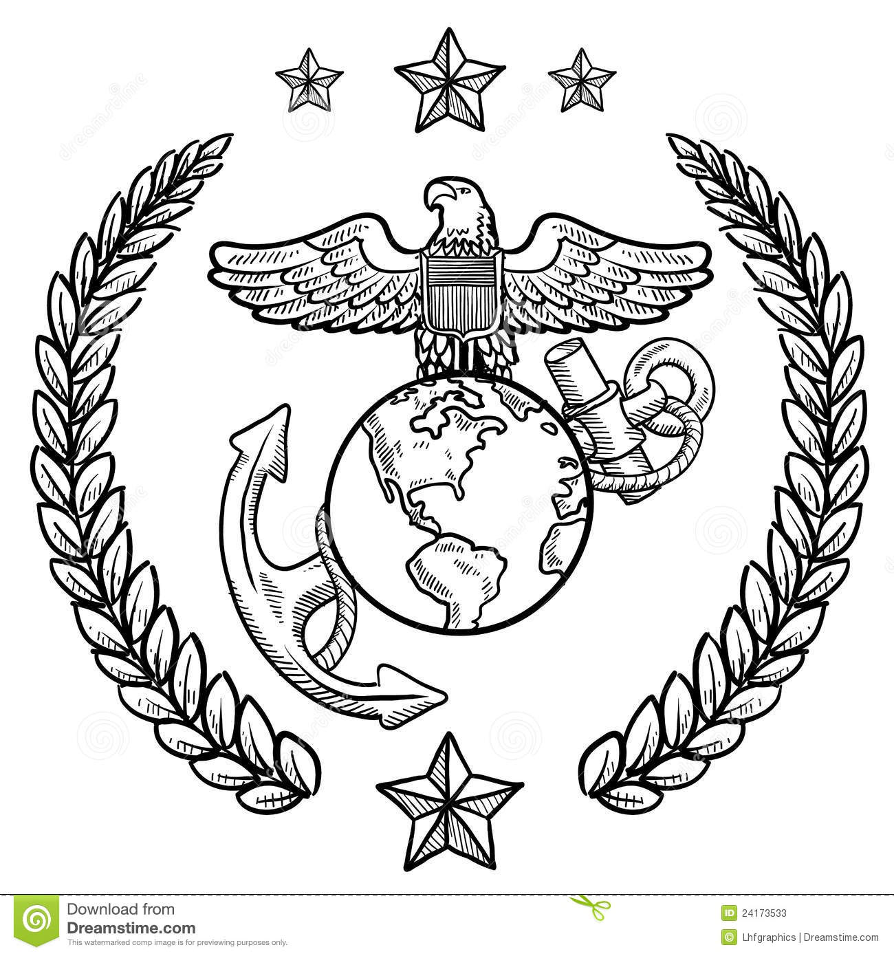 Us Marine Corps Insignia Stock Vector Illustration Of