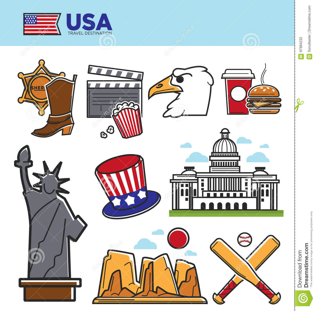 Usa America Travel Landmarks Symbols And American Culture