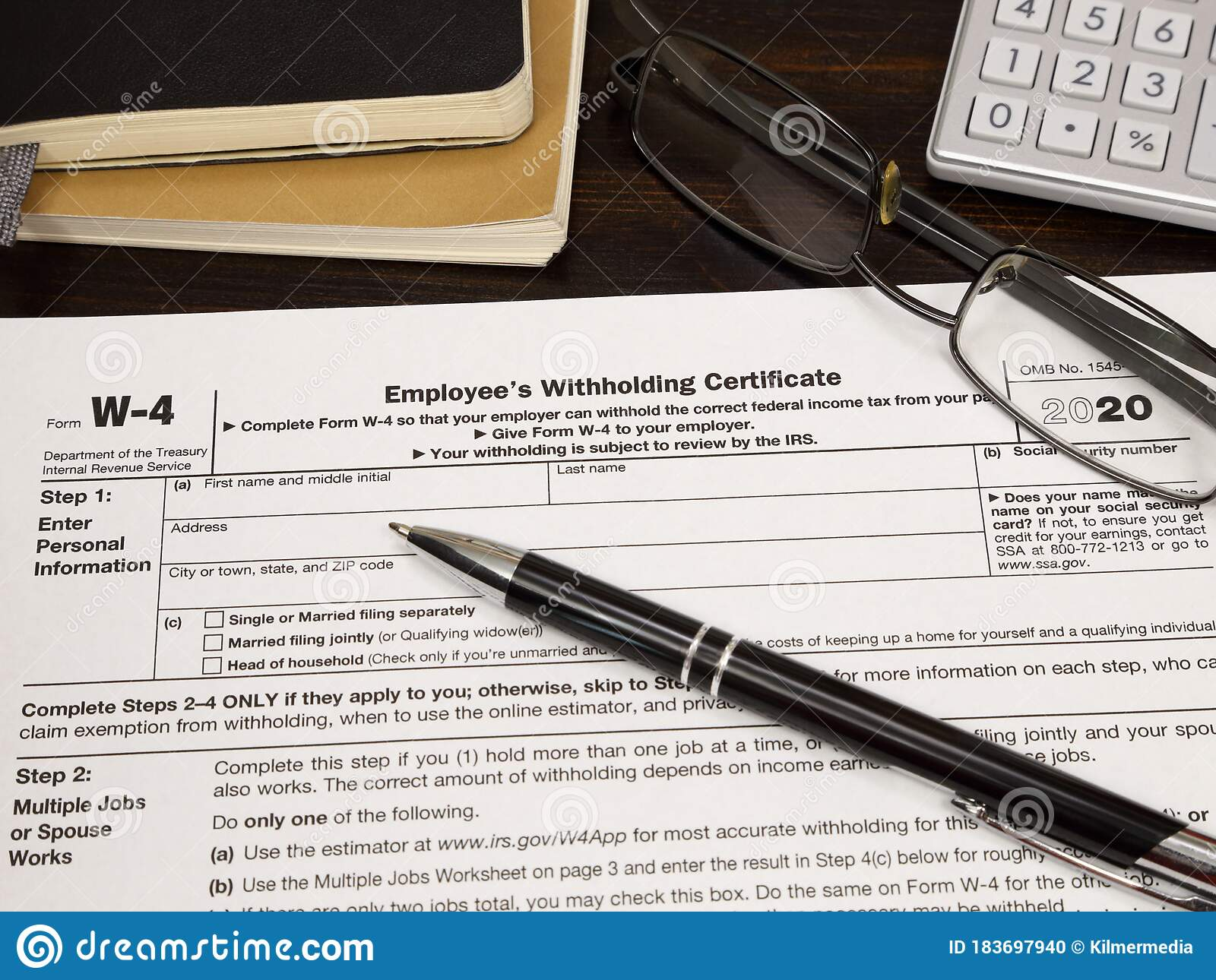 Usa Irs W 4 Employee S Withholding Certificate Issued In