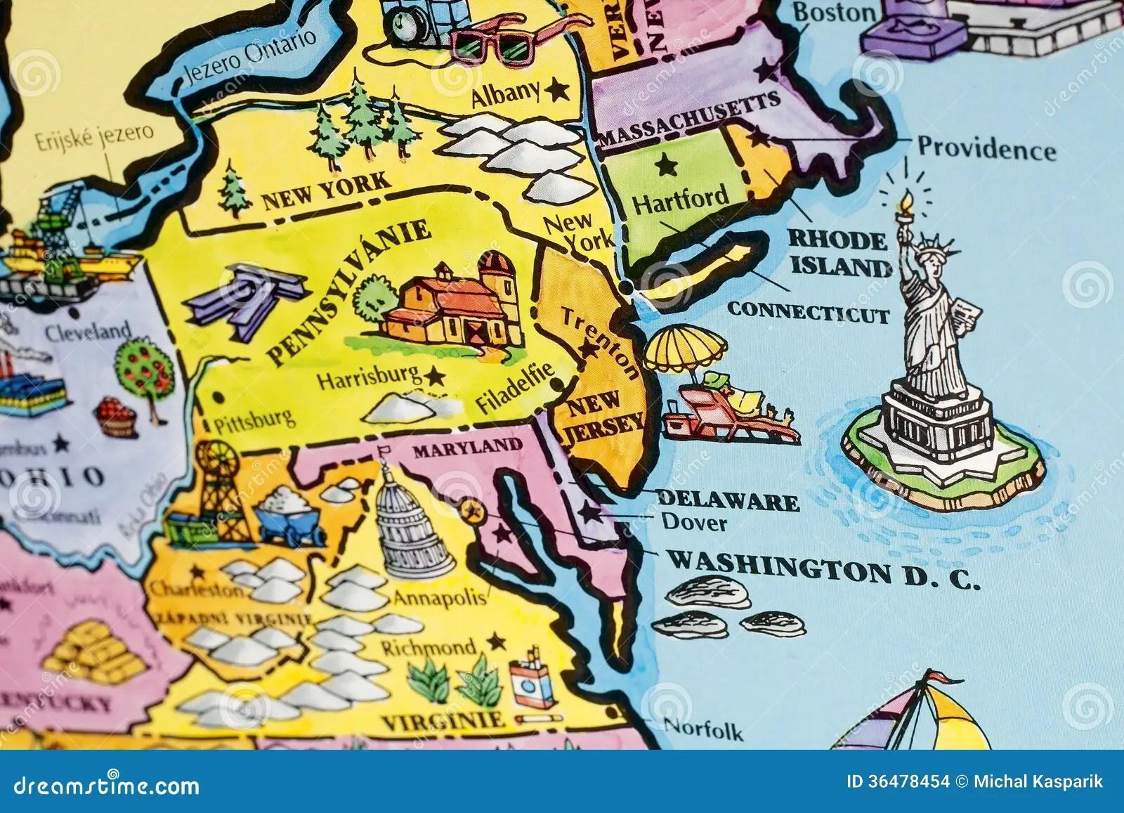 Usa Map Stock Photo Image Of York Cartography Travel