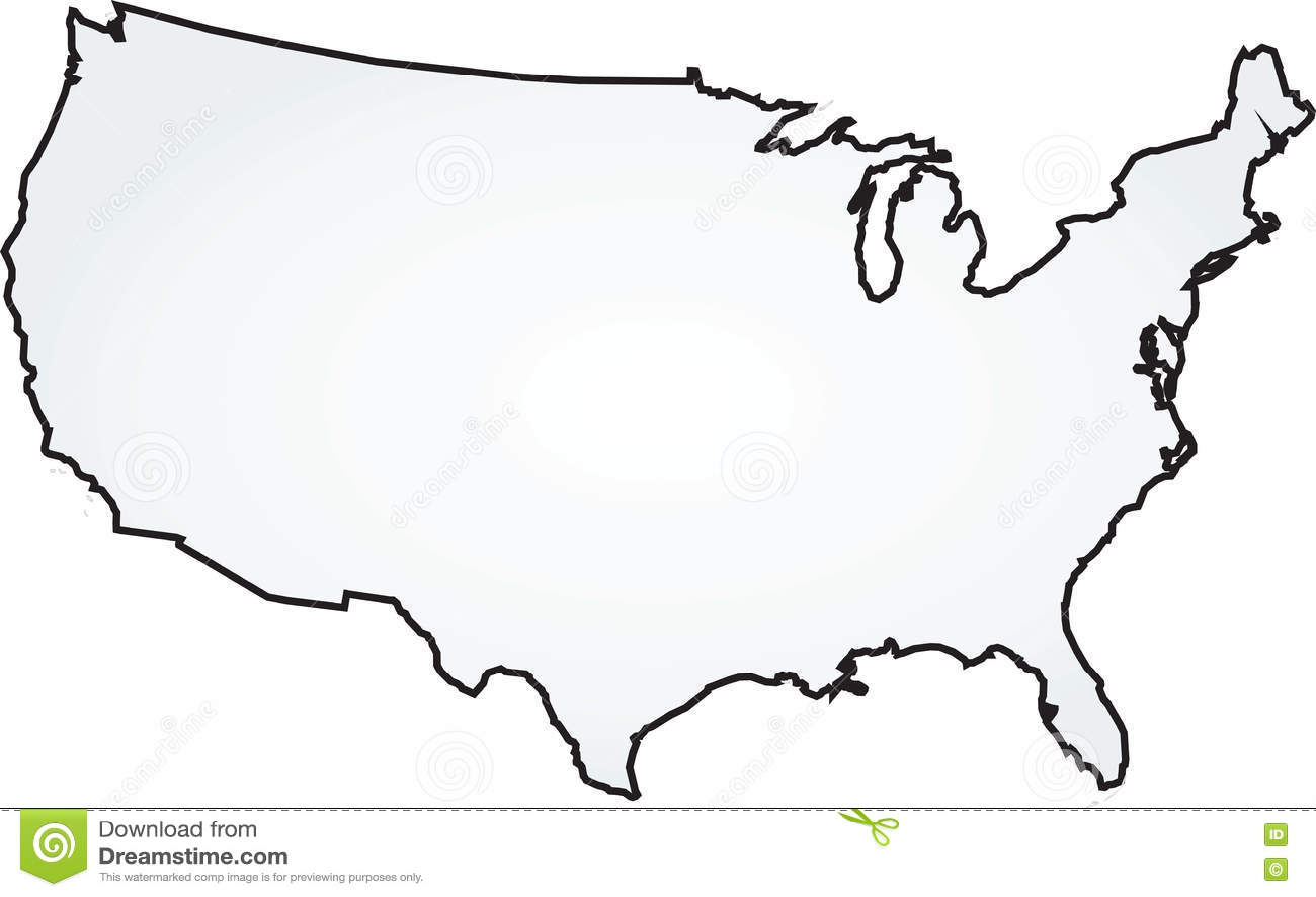 Usa Map Stock Vector Illustration Of Prison Border