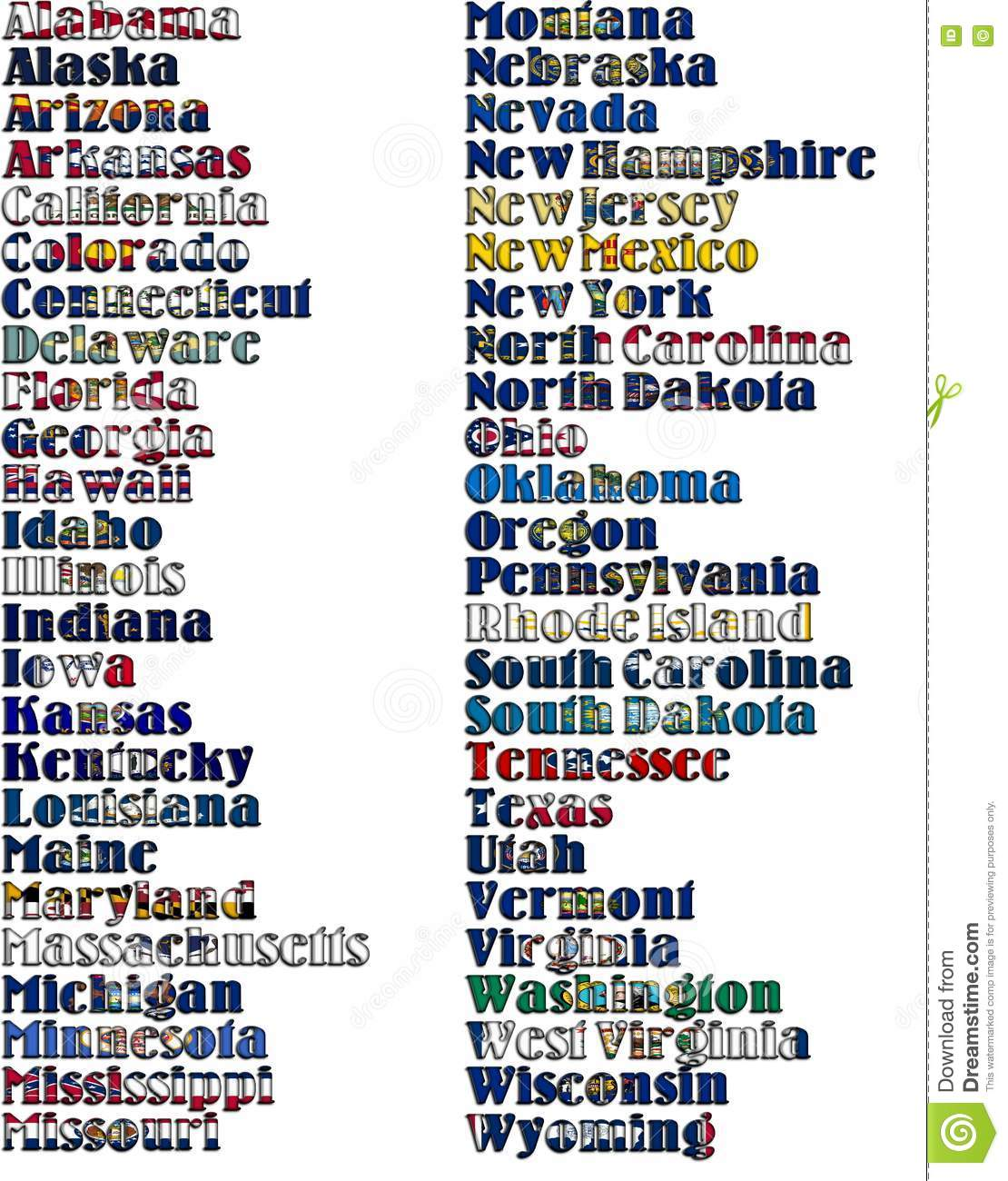 Download List Of 50 States In Alphabetical Order Excel