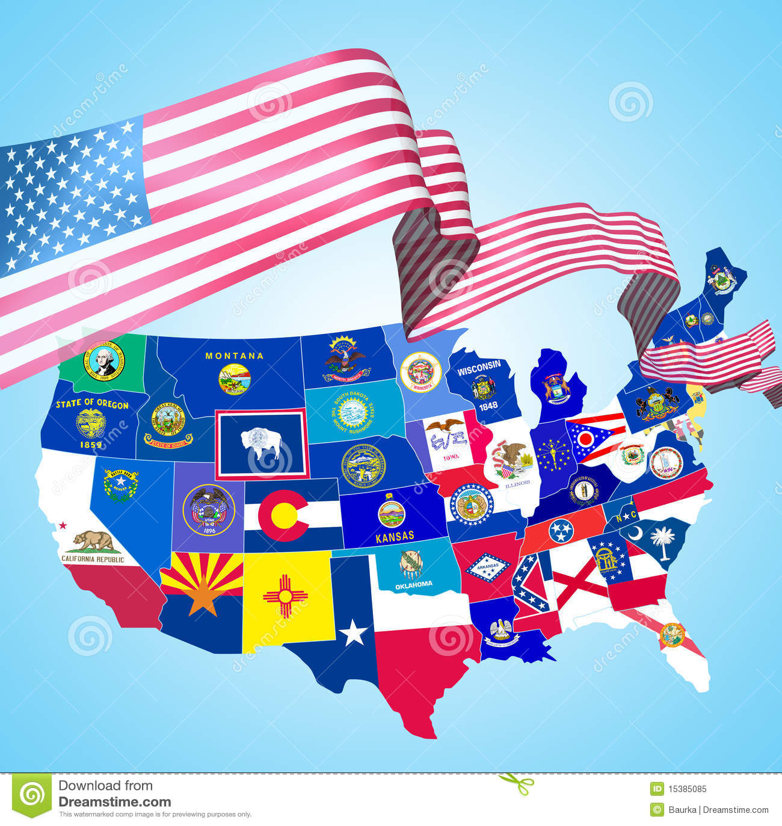 Usa Symbols Stock Illustration Illustration Of Illinois