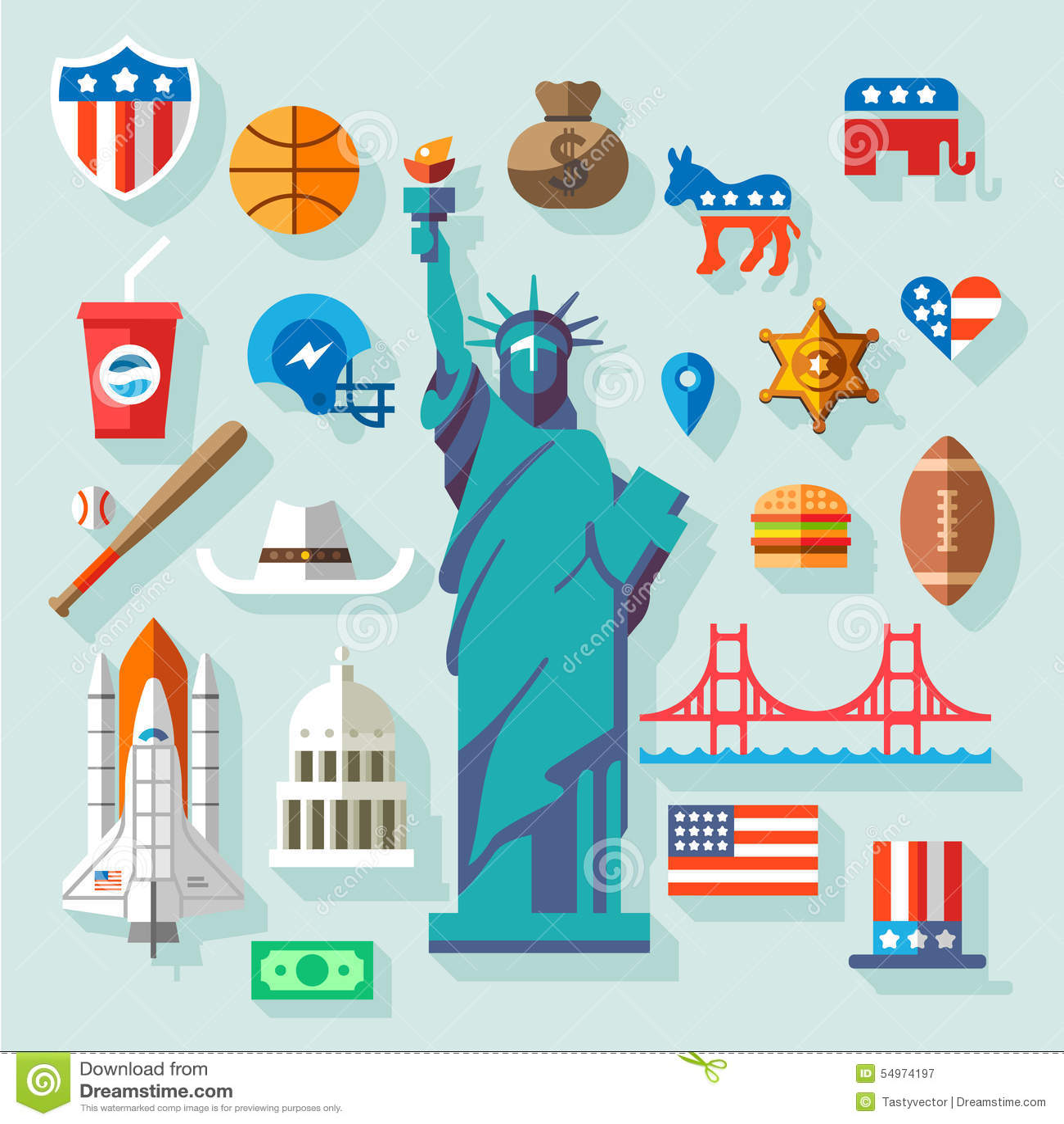Usa Symbols Editorial Photography Illustration Of