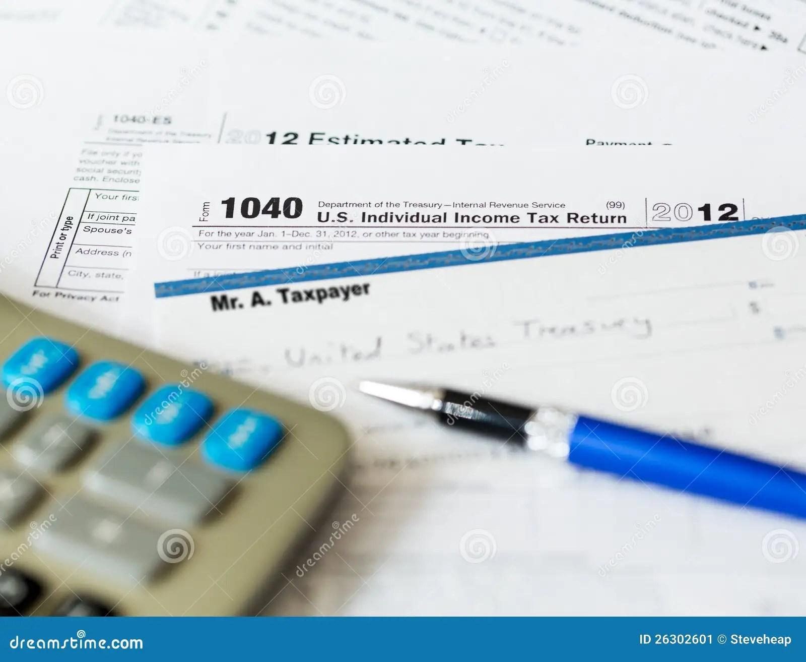 Tax Return Form 1040 2012