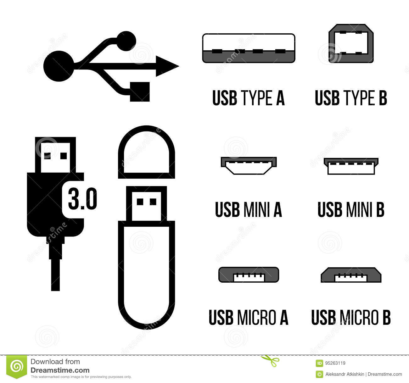 Usb Sockets Icon Stock Vector Illustration Of Adapter