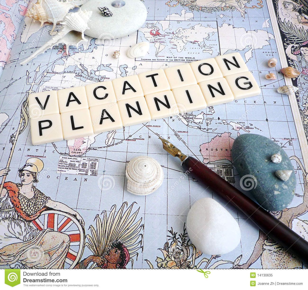 Vacation Planning Concept Stock Image Image Of Concept