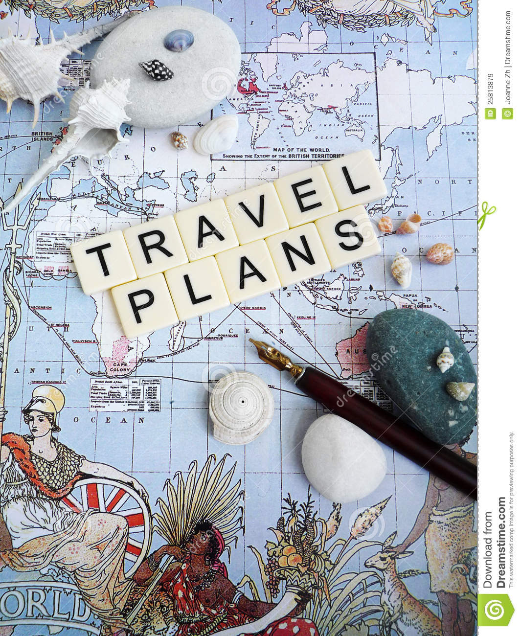 Vacation Planning Concept Royalty Free Stock Images